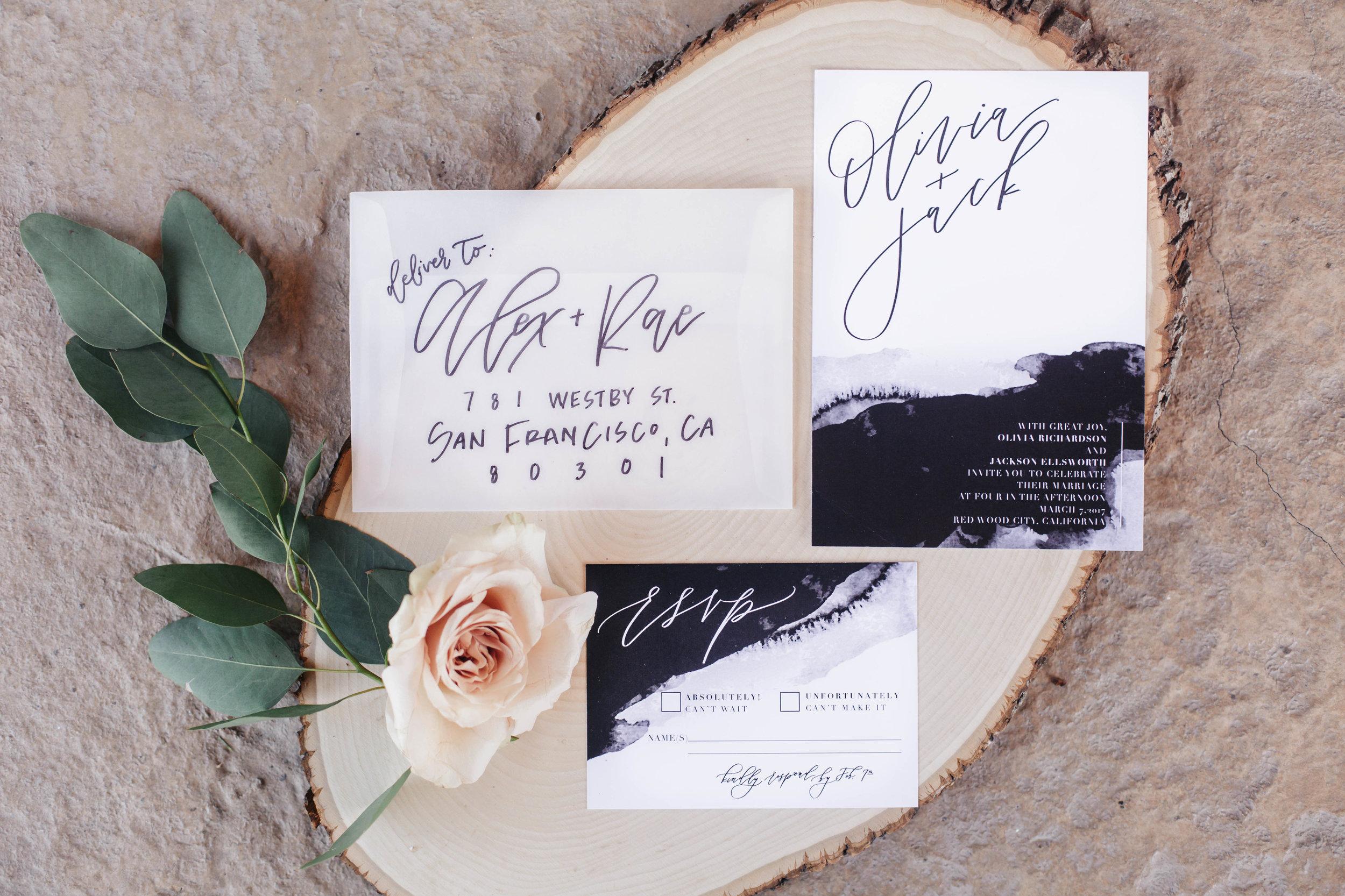 www.santabarbarawedding.com   Molly + Co   Sogno Del Fiore   Wedding Invitations
