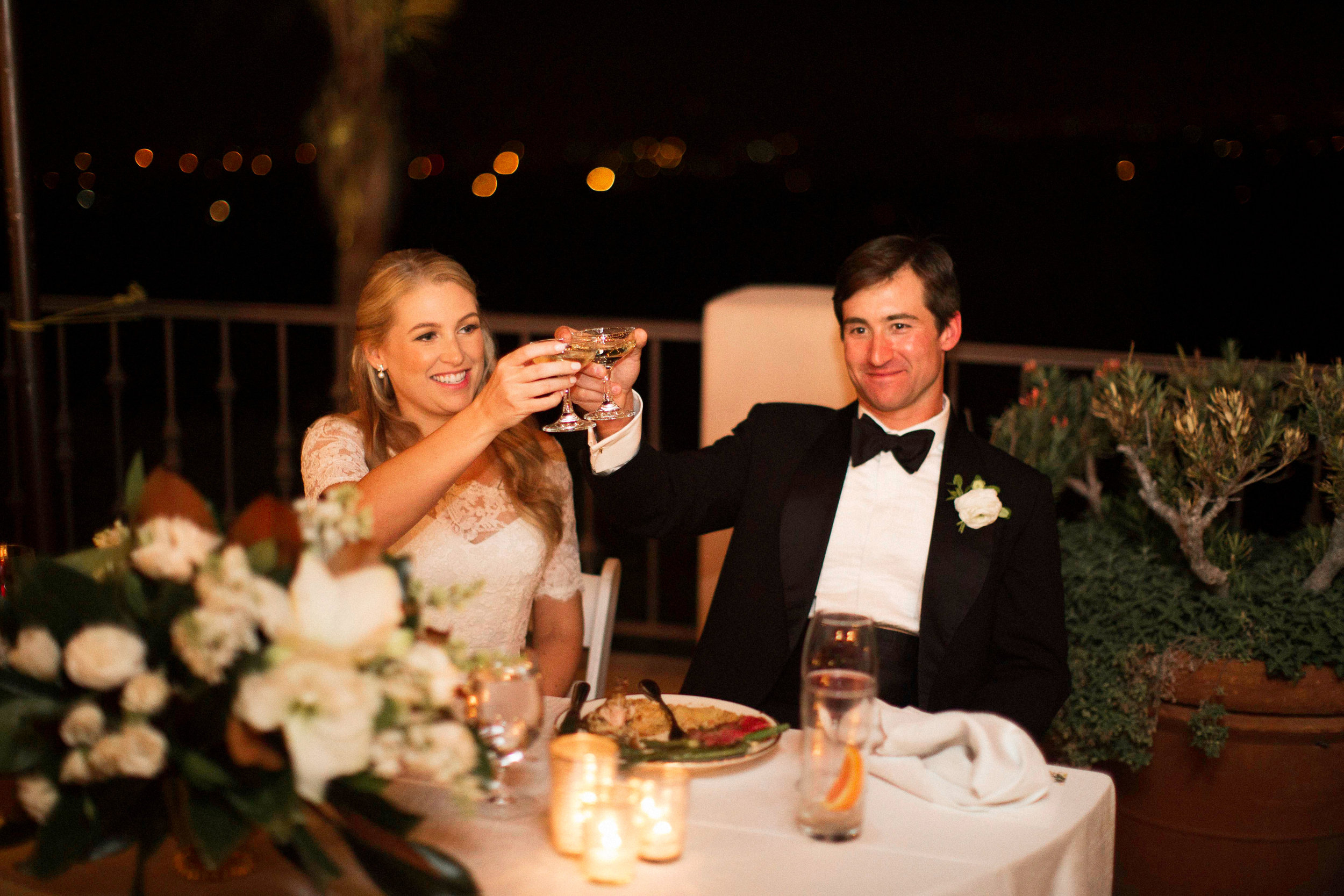 www.santabarbarawedding.com | Villa Verano | Clarissa Koenig Photography | Felici Events | Bride and Groom | Toast