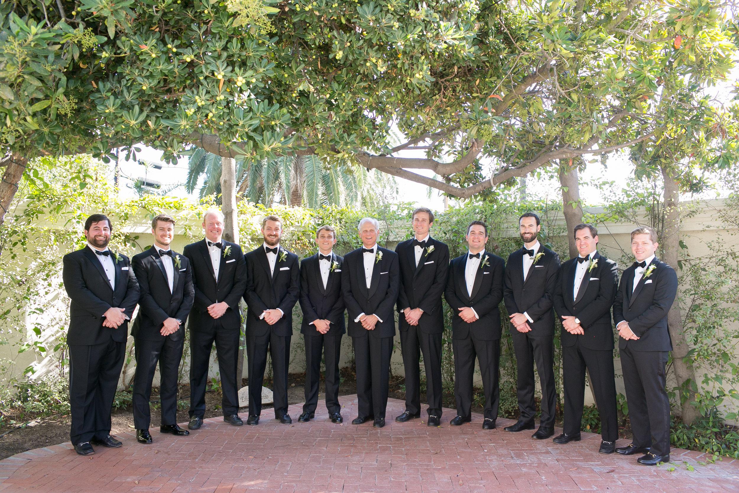 www.santabarbarawedding.com   Kelsey Crews   Felici Events   Santa Barbara Club   Groomsmen