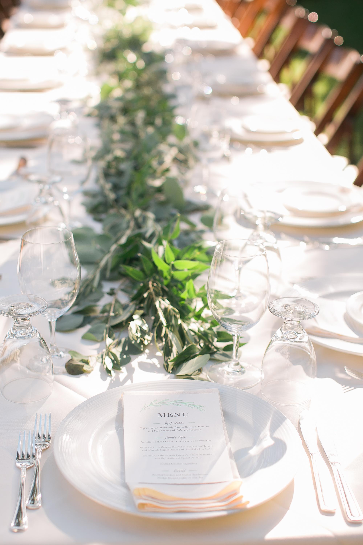 www.santabarbarawedding.com   Kelsey Crews   Felici Events   Santa Barbara Club   Reception Place Setting