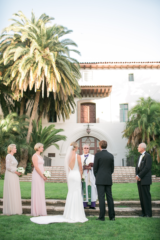 www.santabarbarawedding.com   Kelsey Crews   Felici Events   Santa Barbara Club   Ceremony   Vows