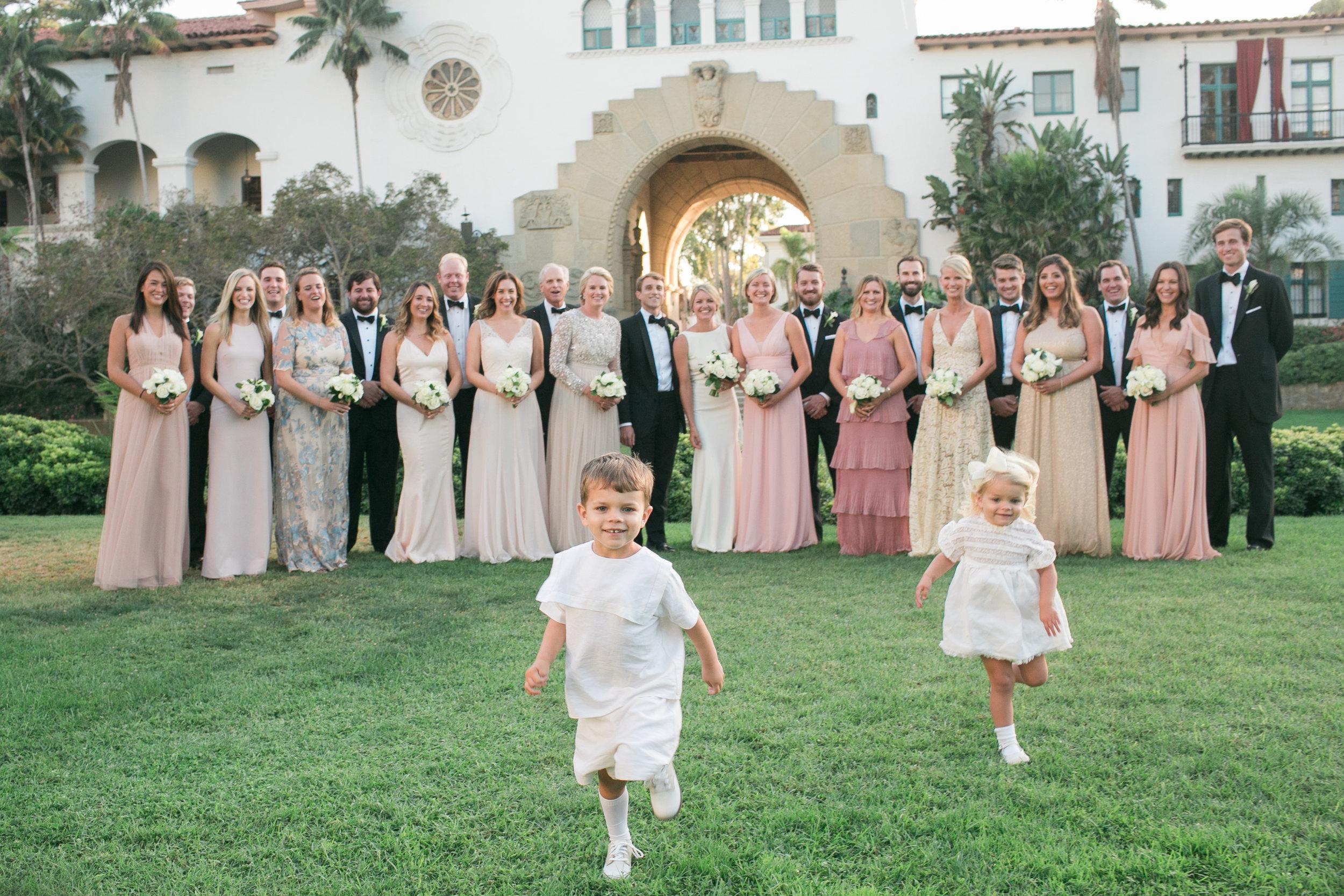 www.santabarbarawedding.com   Kelsey Crews   Felici Events   Santa Barbara Club   Bridal Party
