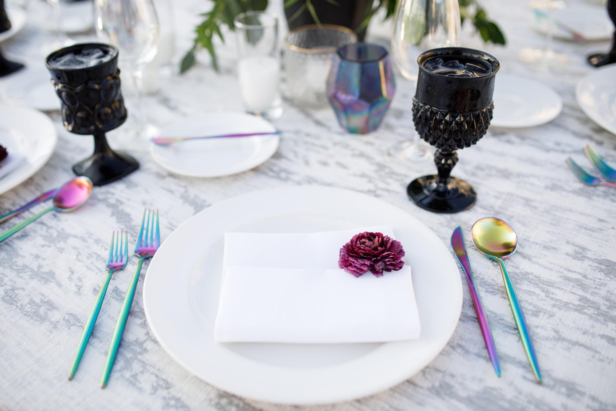 www.santabarbarawedding.com | Kiel Rucker | Canary Hotel | Place Setting