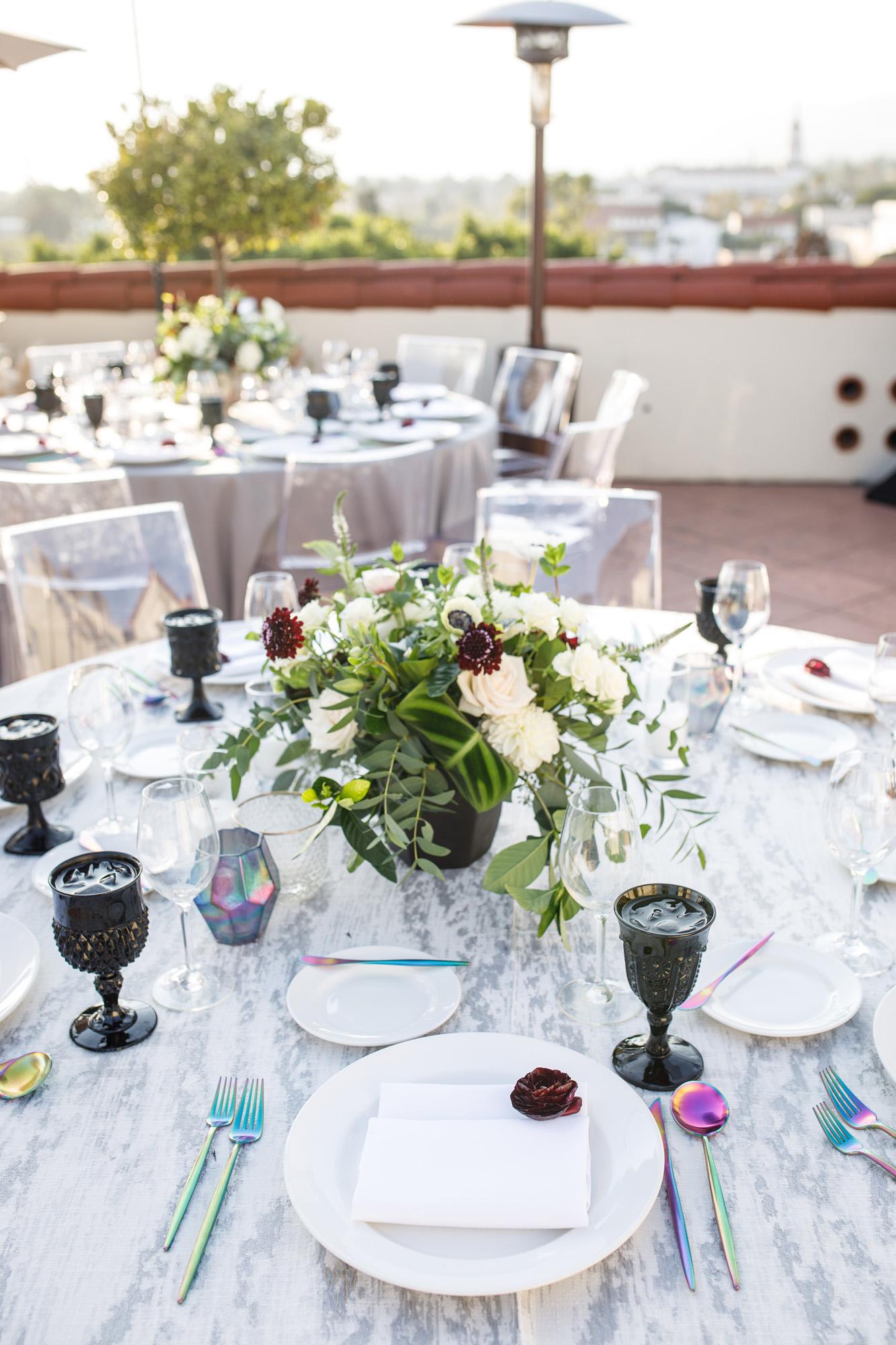 www.santabarbarawedding.com | Kiel Rucker | Canary Hotel | Reception table