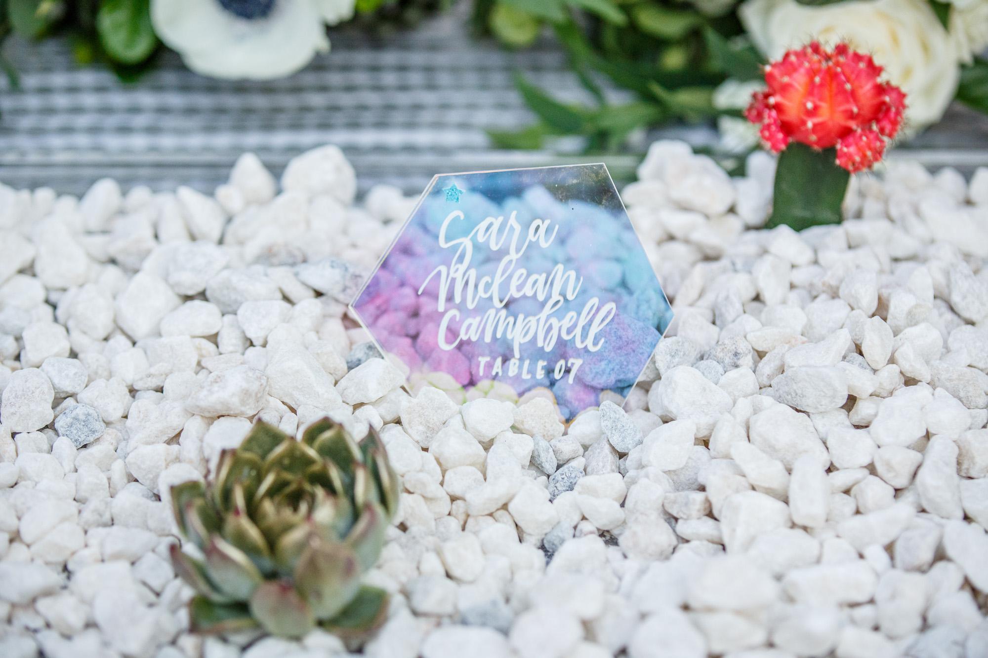 www.santabarbarawedding.com | Kiel Rucker | Canary Hotel | Reception Details | Succulent
