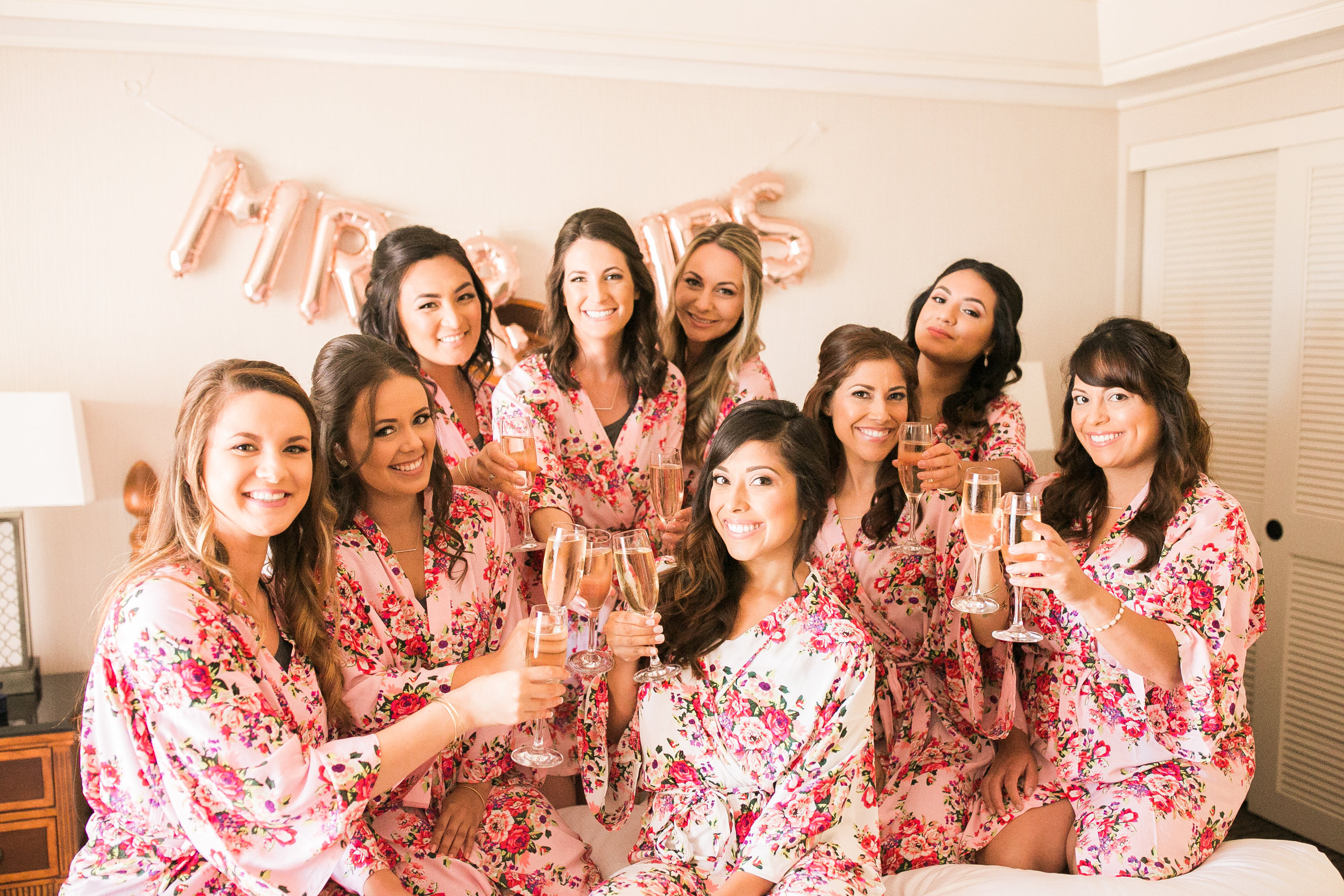 www.santabarbarawedding.com | Kelsey Crews | Fess Parker Doubletree | Bridesmaids