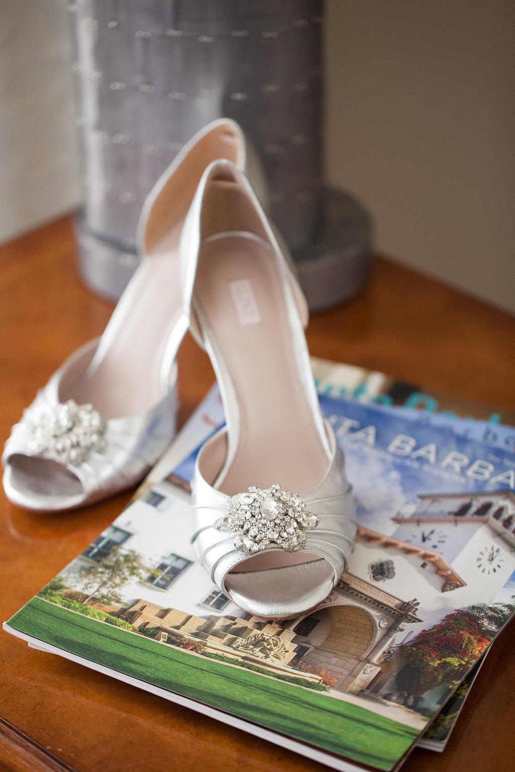 www.santabarbarawedding.com | Felici Events | Melissa Musgrove | El Paseo | Bride's Shoes