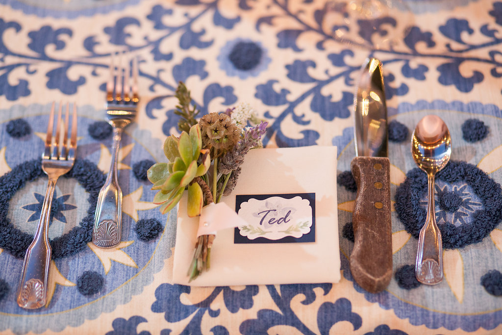 www.santabarbarawedding.com | Felici Events | Melissa Musgrove | El Paseo | Place Setting