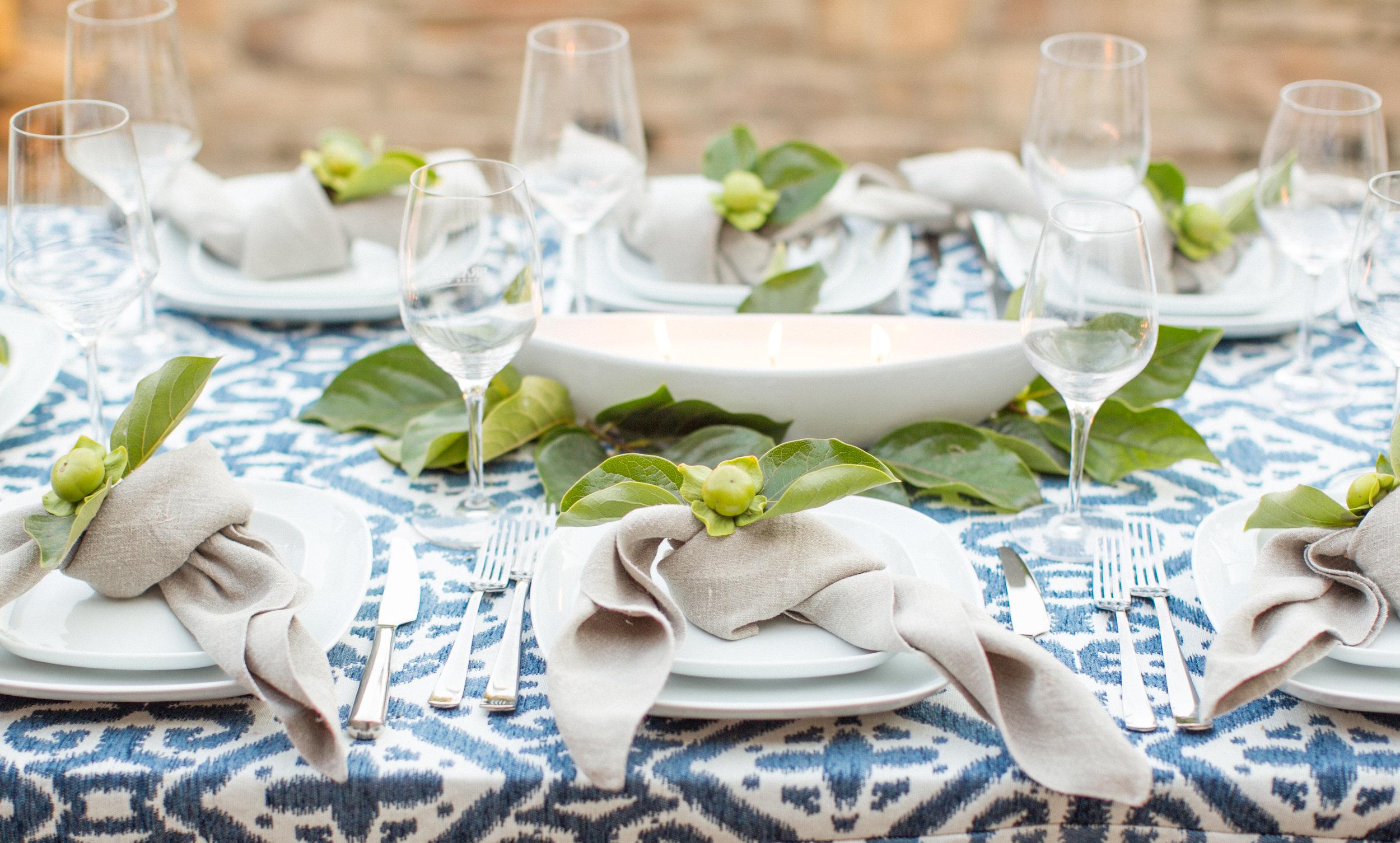 www.santabarbarawedding.com | Atelier de La Fleur Weddings & Events | Mike Larson | Rehearsal Dinner Table