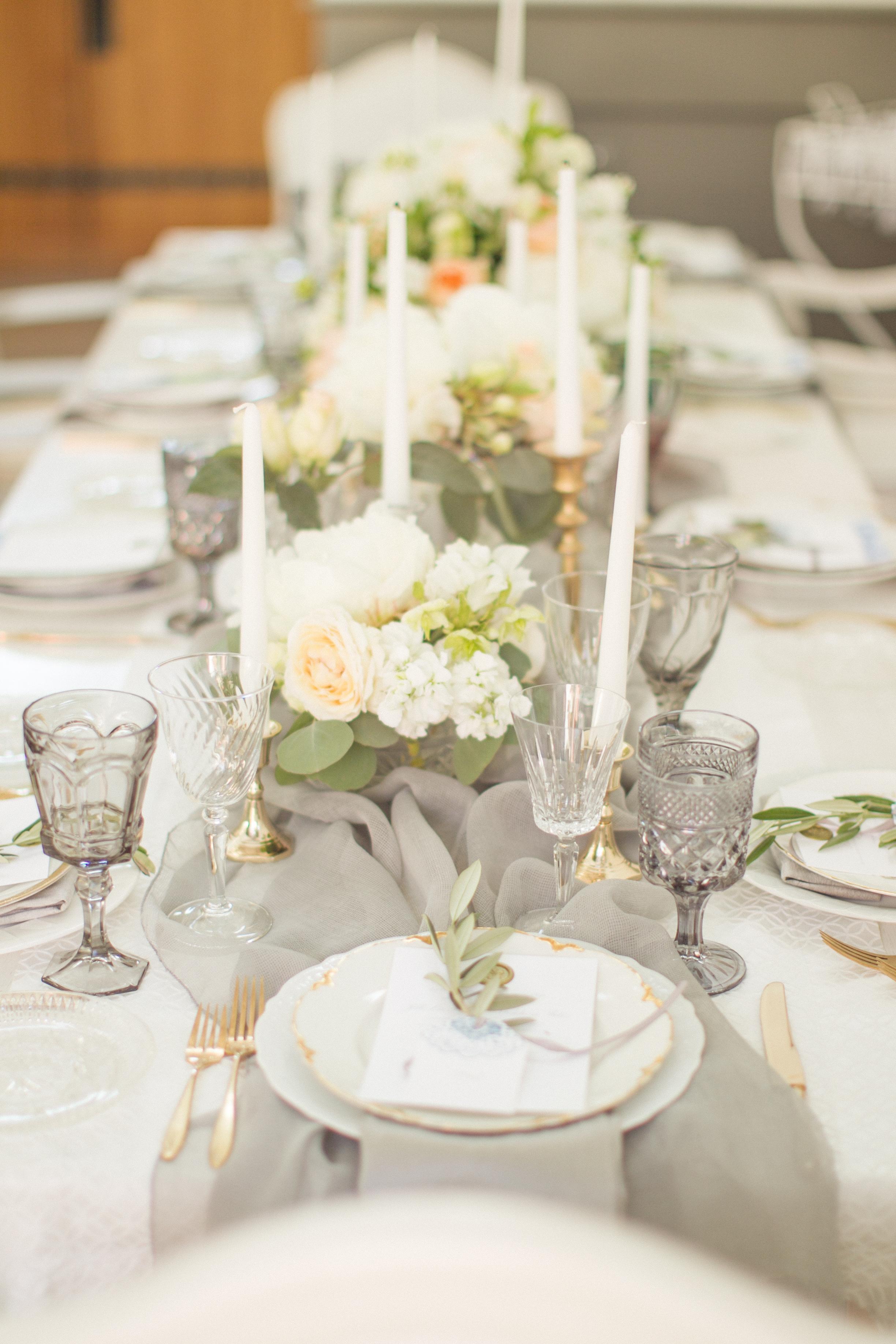 www.santabarbarawedding.com | Atelier de La Fleur Weddings & Events | Mike Larson | Reception Table Details