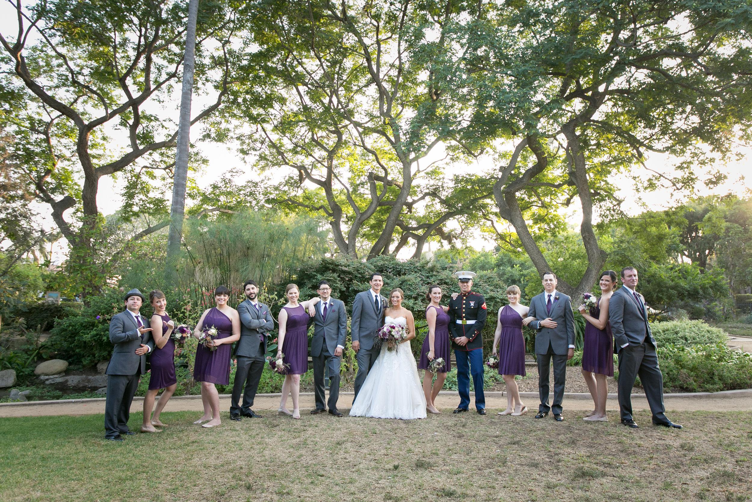 www.santabarbarawedding.com | Kelsey Crews | Felici Events | Alice Keck Park | Bridal Party