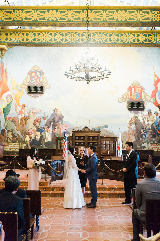 www.santabarbarawedding.com | Lavender & Twine | Michele B. Events | Santa Barbara Courthouse | Ceremony