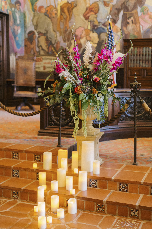 www.santabarbarawedding.com | Santa Barbara Courthouse | Canary Hotel | Aurelia D'Amore Photography | Ceremony Details