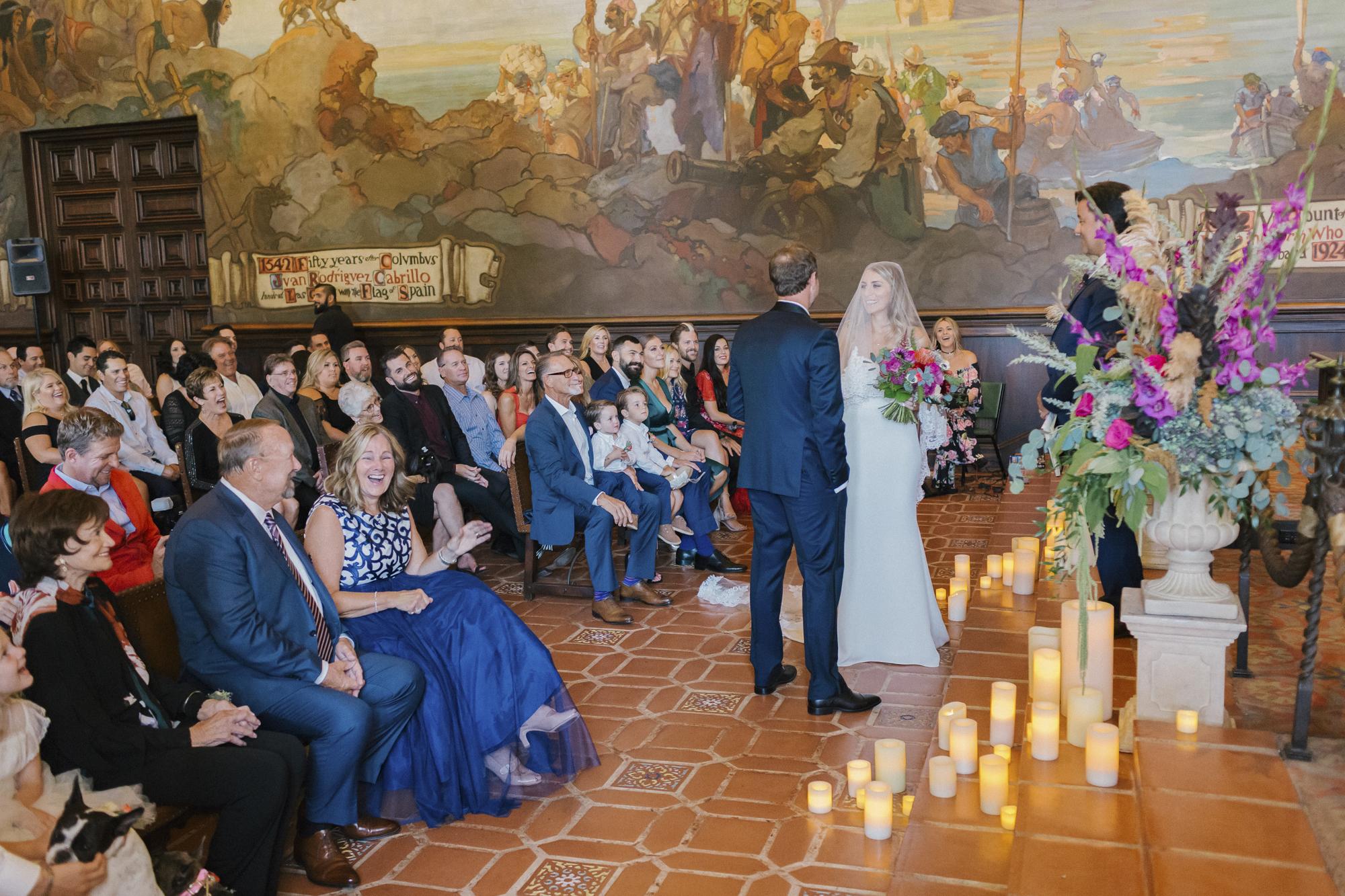www.santabarbarawedding.com | Santa Barbara Courthouse | Canary Hotel | Aurelia D'Amore Photography | Ceremony | Bride and Groom