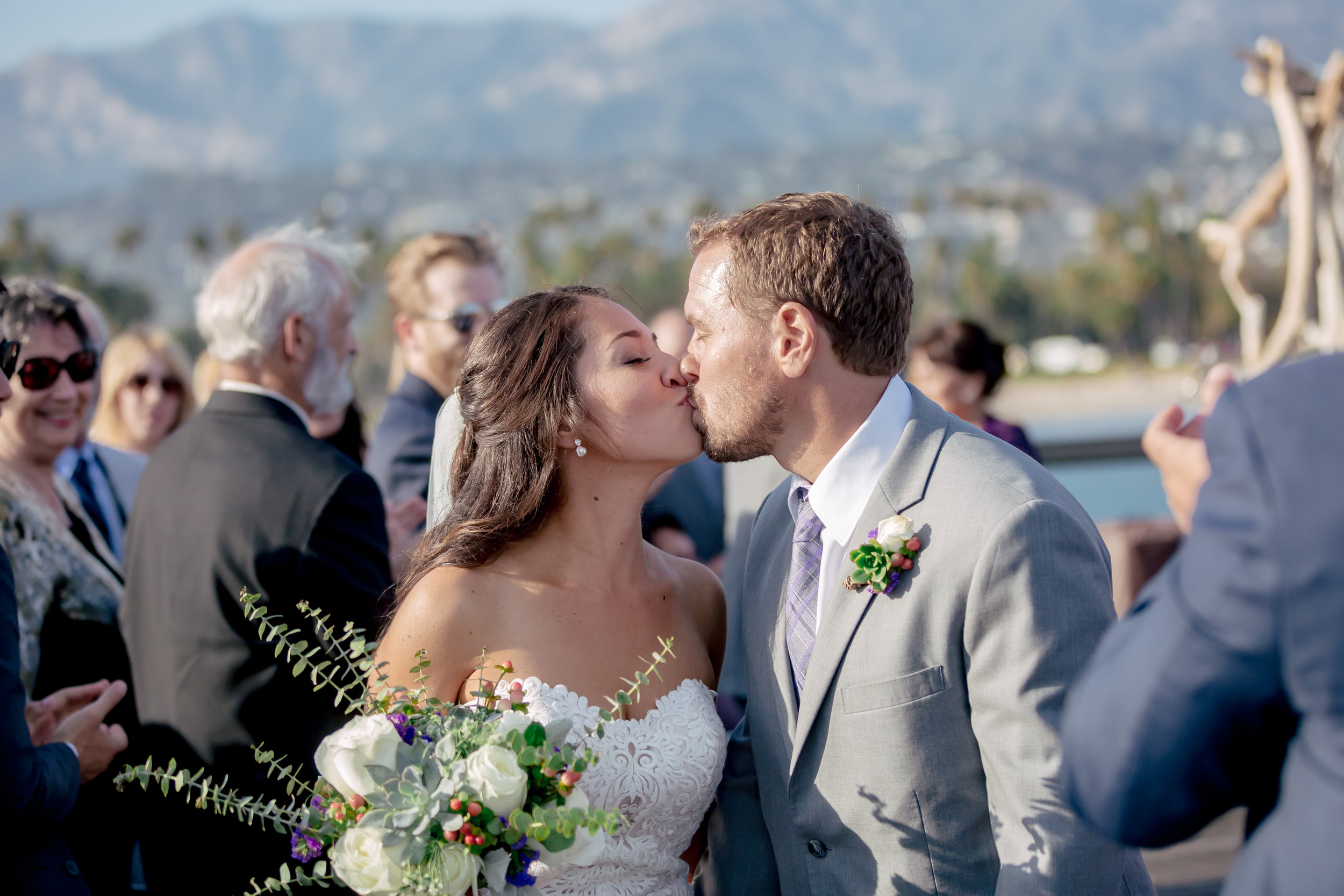 www.santabarbarawedding.com | Rewind Photography | Santa Barbara Sea Center | Events by Fran | Bride and Groom