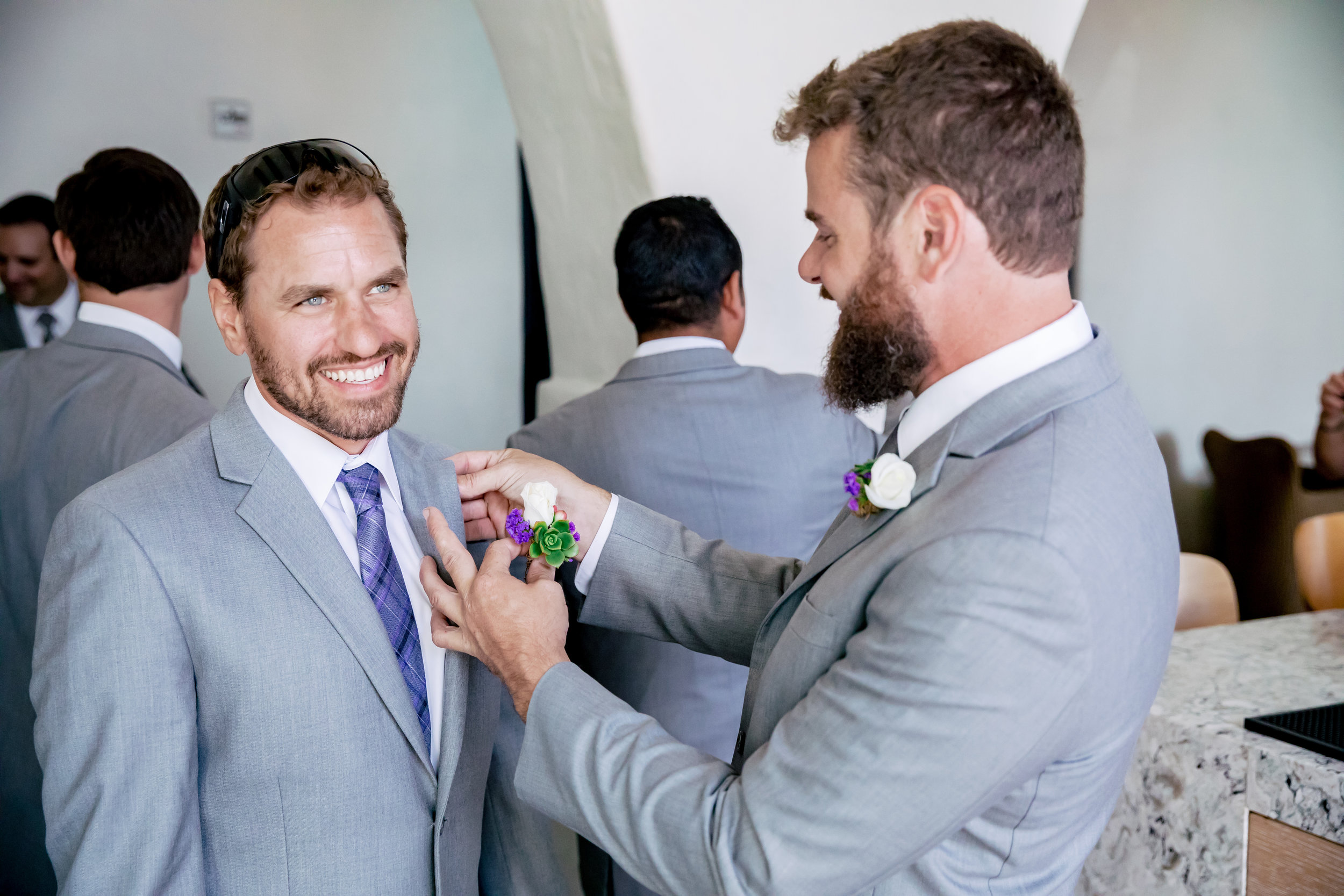 www.santabarbarawedding.com | Rewind Photography | Santa Barbara Sea Center | Events by Fran | Groom Getting Ready