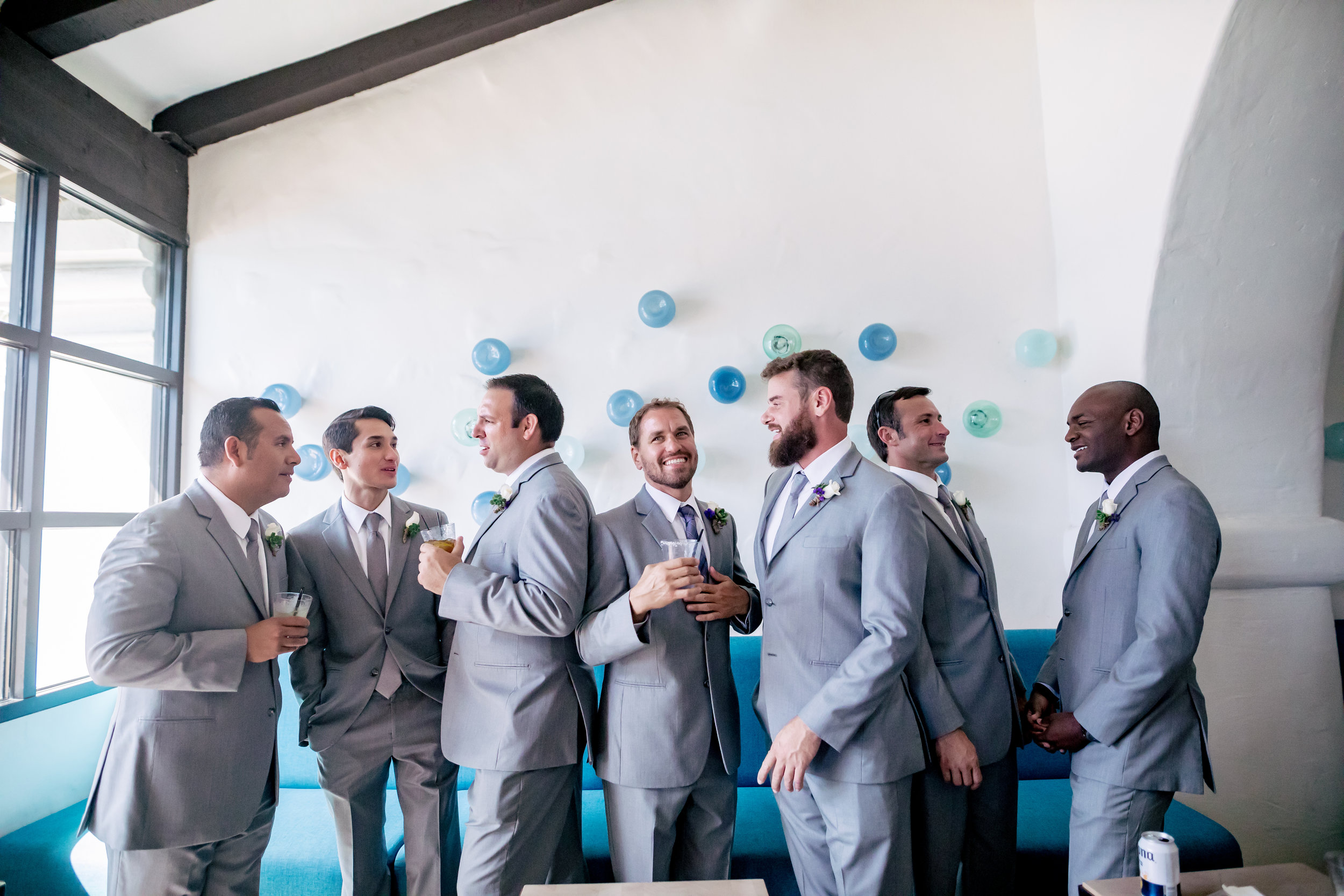 www.santabarbarawedding.com | Rewind Photography | Santa Barbara Sea Center | Events by Fran | Groomsmen