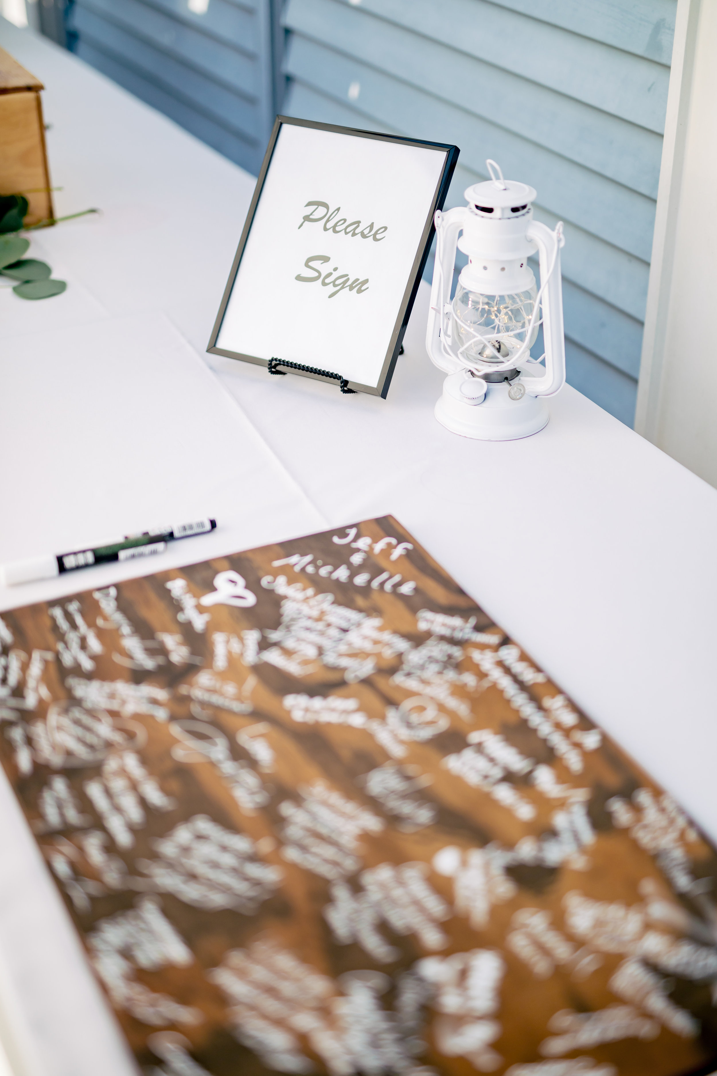www.santabarbarawedding.com | Rewind Photography | Santa Barbara Sea Center | Events by Fran | Guest Book Sign