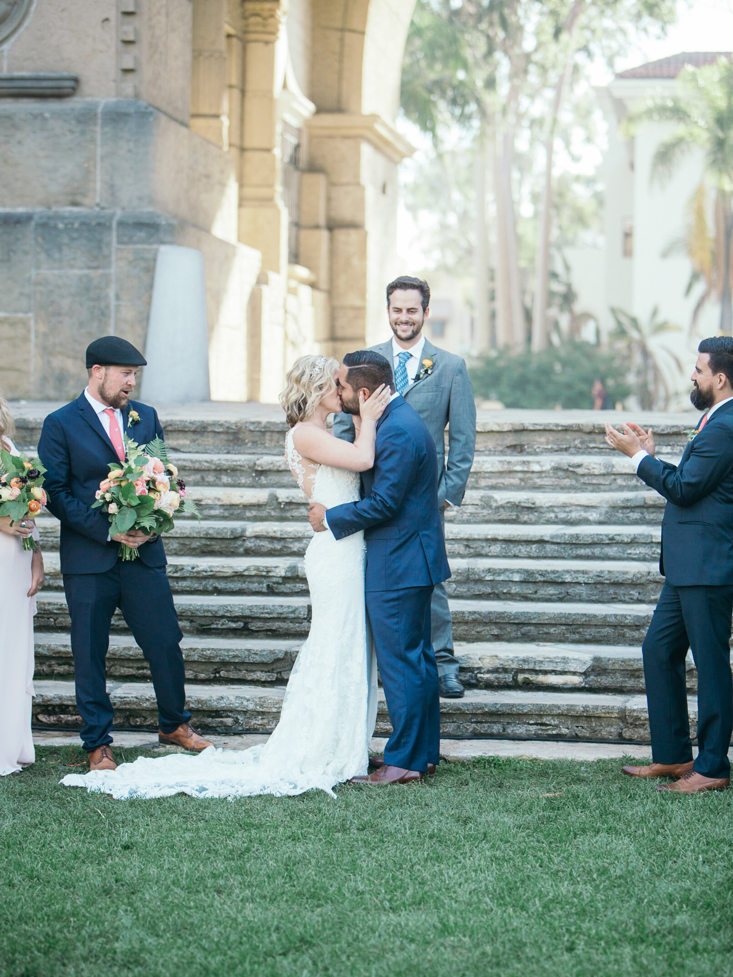 www.santabarbarawedding.com | Kiel Rucker | Riviera Mansion | Bride and Groom Kiss