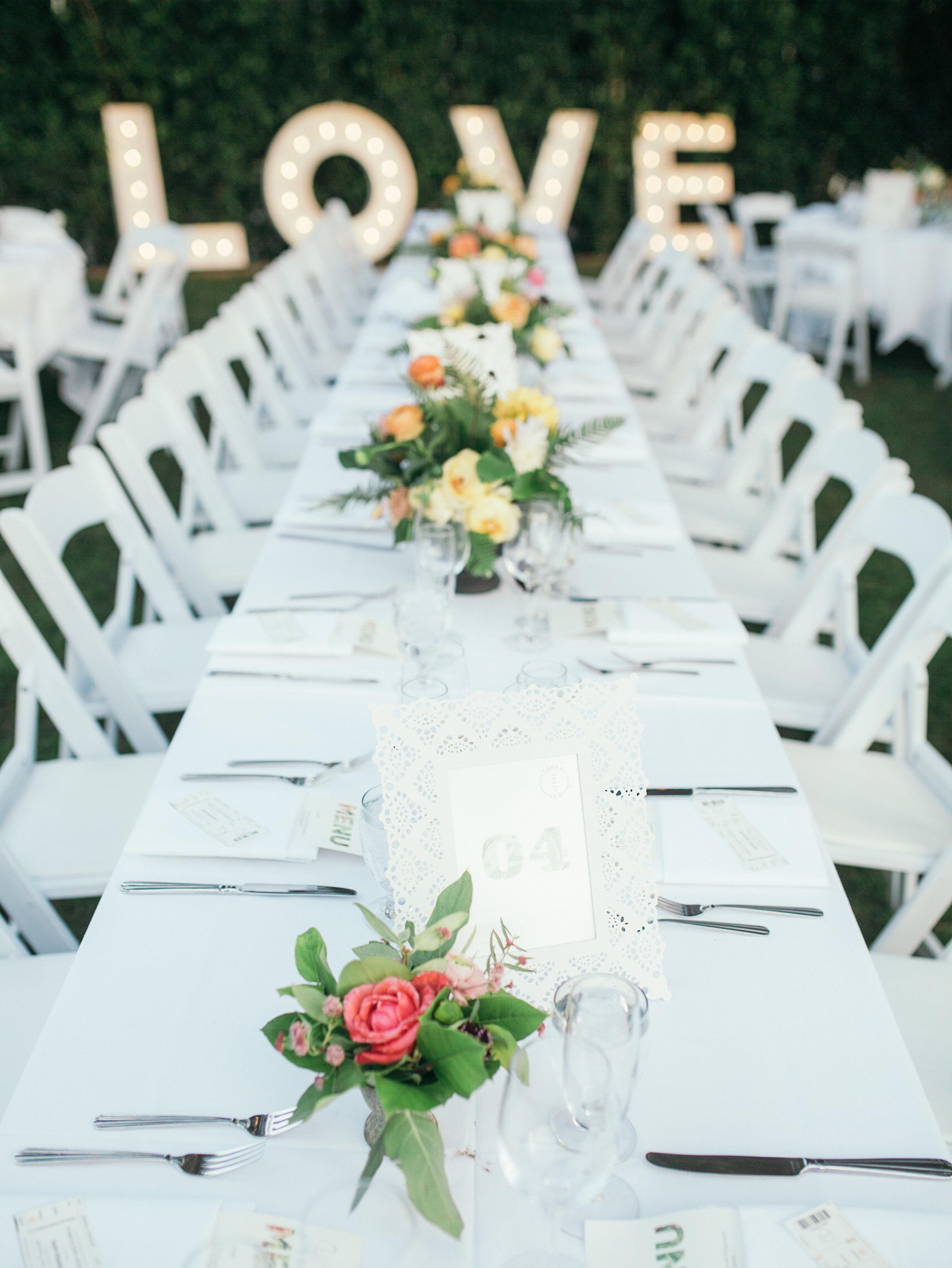 www.santabarbarawedding.com | Kiel Rucker | Riviera Mansion | Reception Table