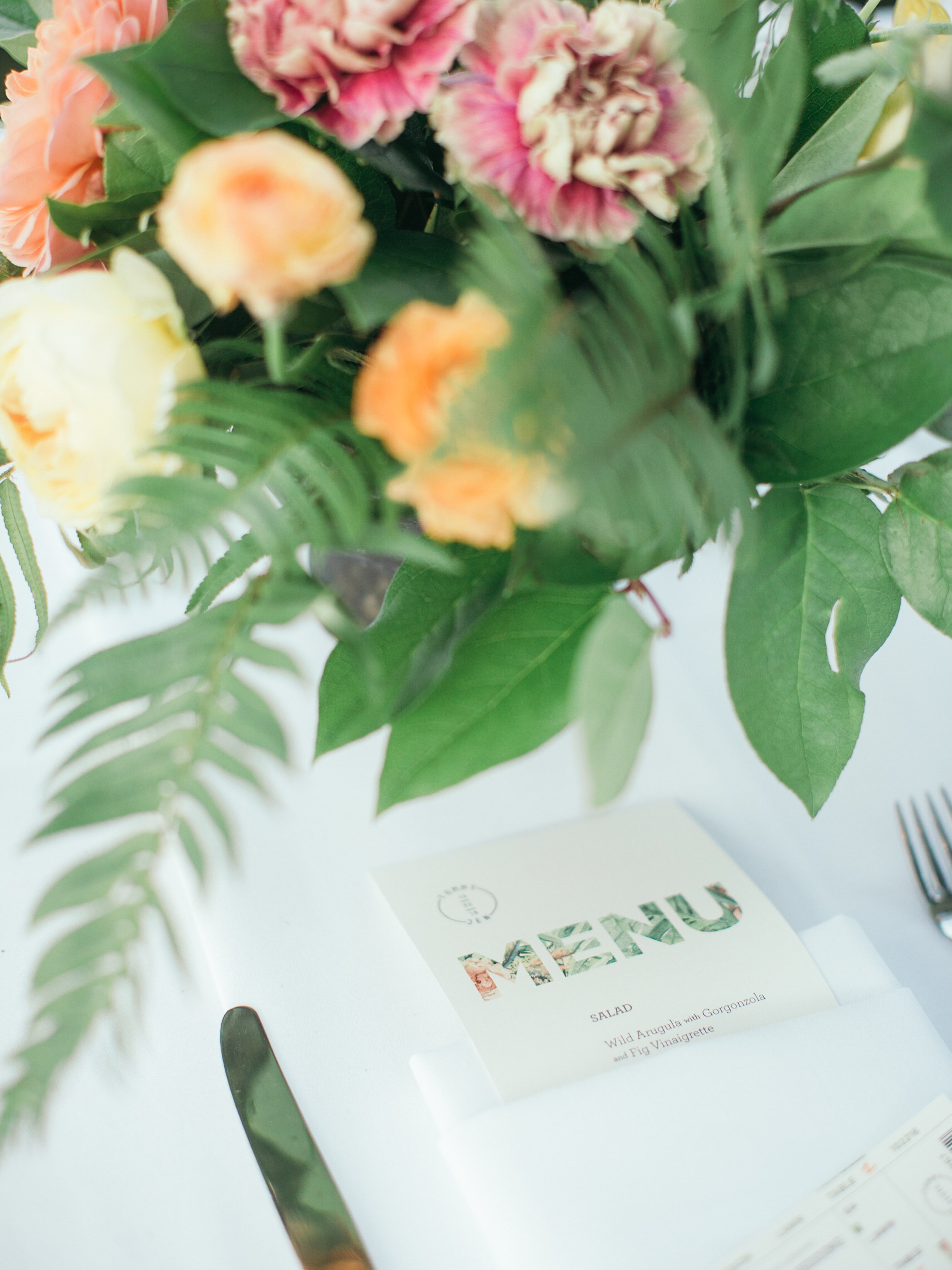 www.santabarbarawedding.com | Kiel Rucker | Riviera Mansion | Dinner Menu