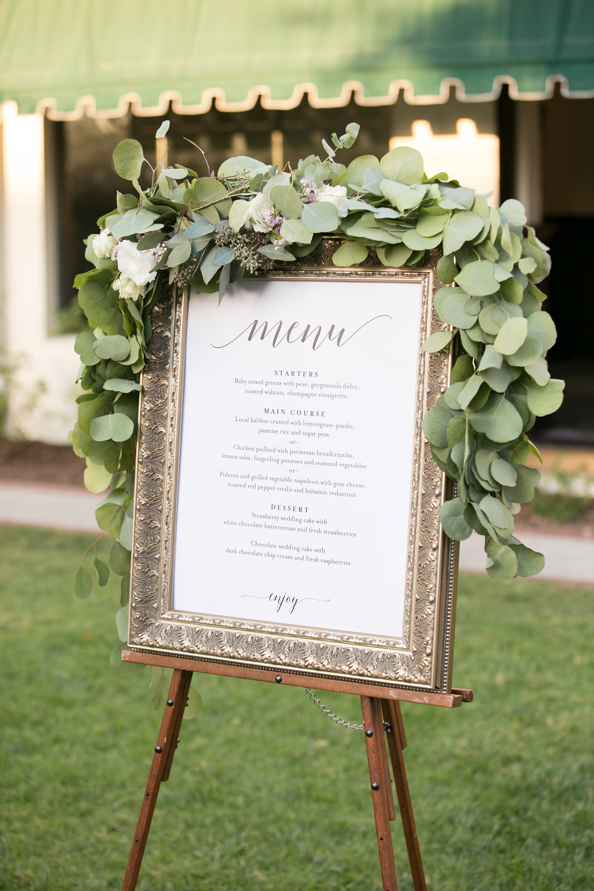 www.santabarbarawedding.com | Melissa Musgrove Photography | Margaret Joan Florals | Wedding Sign