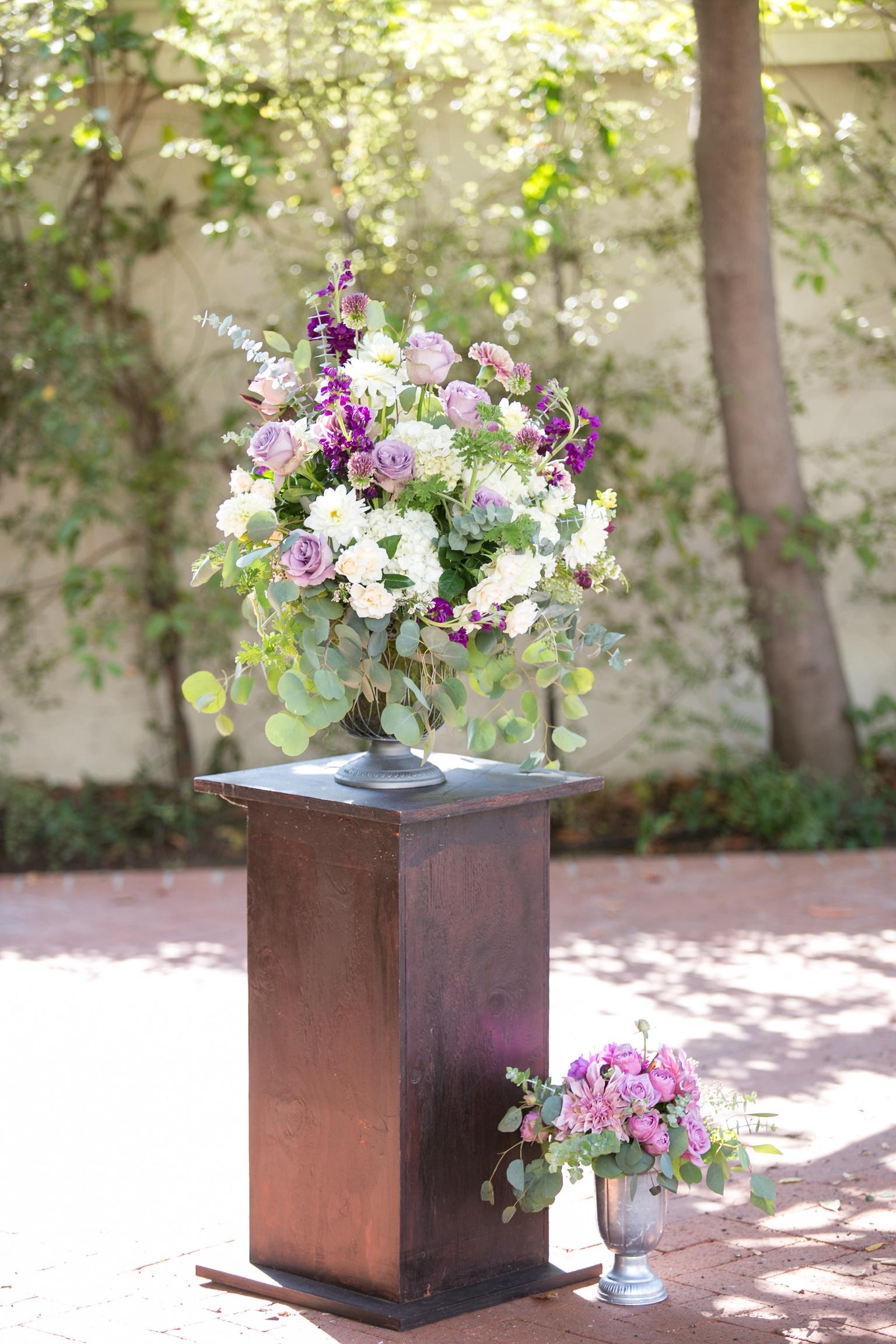 www.santabarbarawedding.com   Melissa Musgrove Photography   Margaret Joan Florals   Ceremony Flower Arrangement