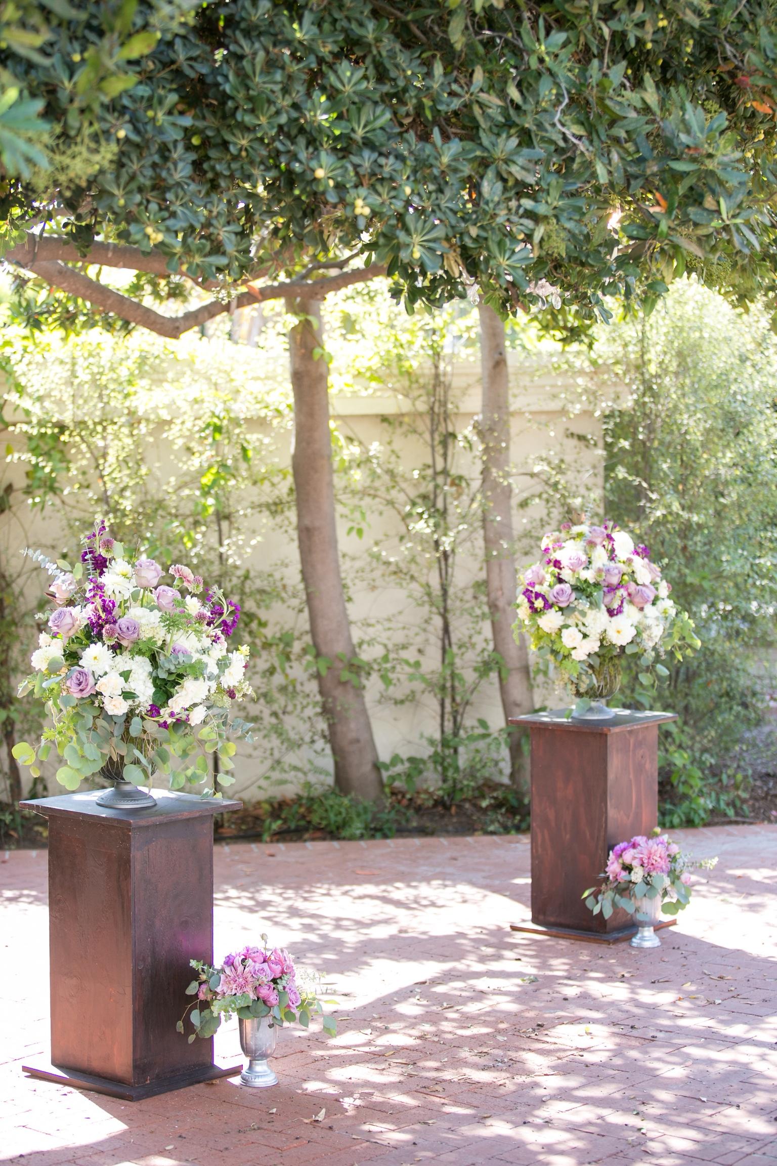 www.santabarbarawedding.com   Melissa Musgrove Photography   Margaret Joan Florals   Ceremony Flower Arrangements