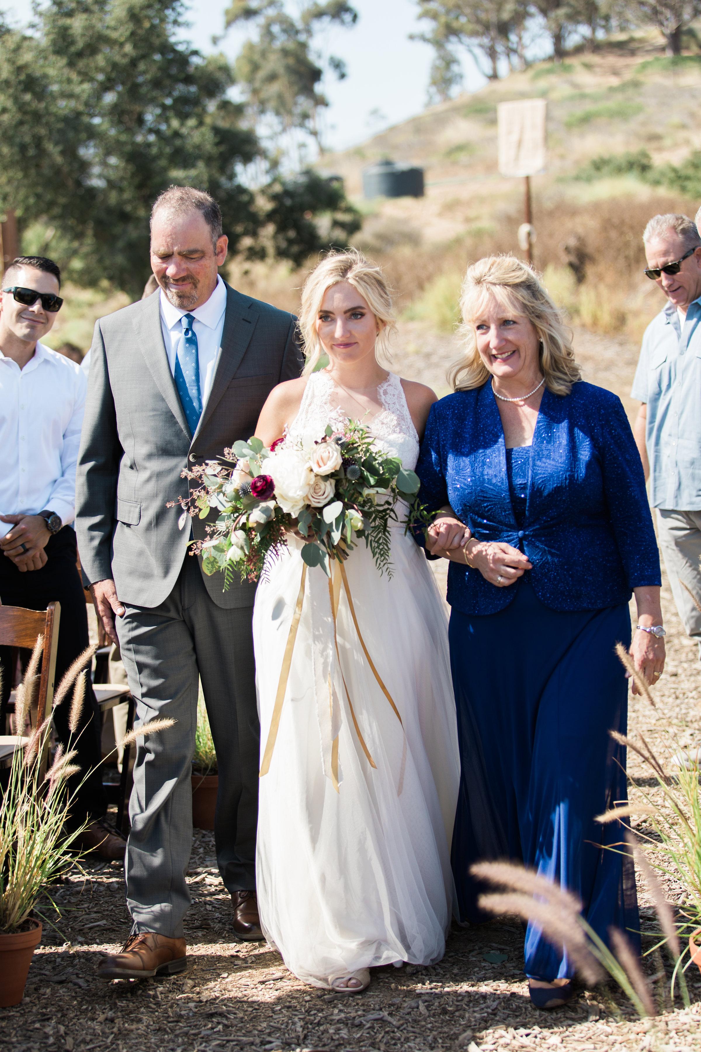www.santabarbarawedding.com | Ann Johnson | Katie Shuler Photography | Ventura Botanical Gardens | Bride Walking Down the Aisle