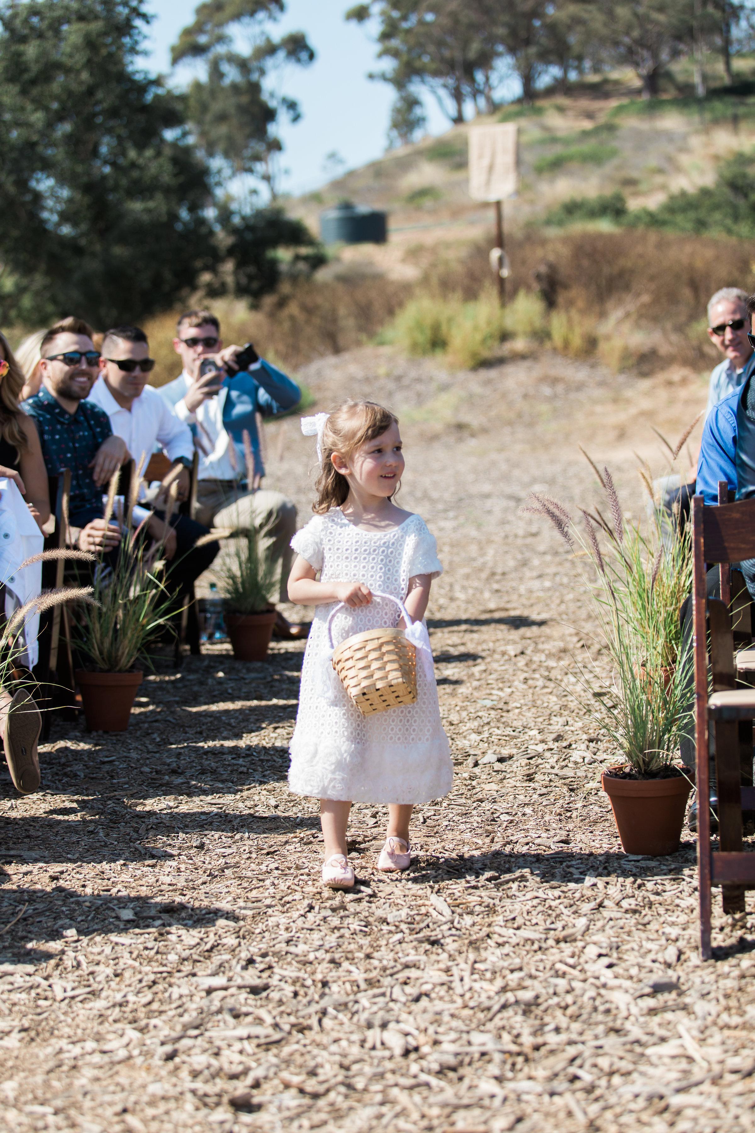 www.santabarbarawedding.com | Ann Johnson | Katie Shuler Photography | Ventura Botanical Gardens | Flower Girl