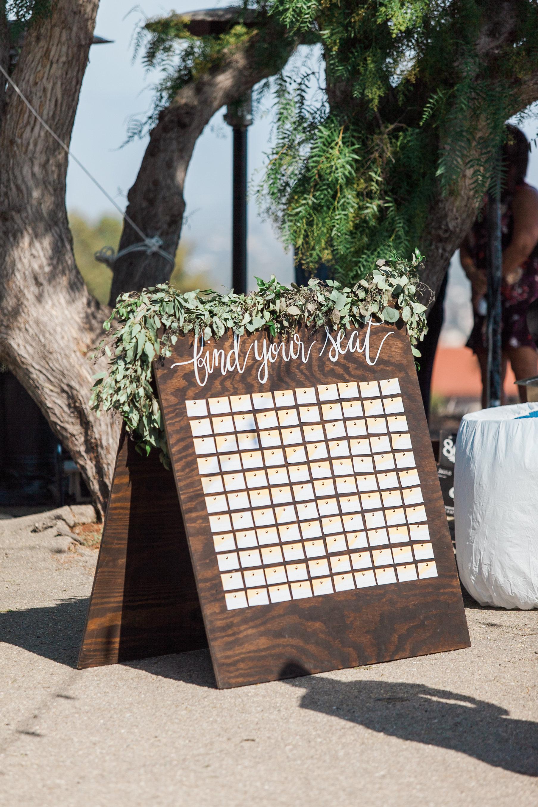 www.santabarbarawedding.com | Ann Johnson | Katie Shuler Photography | Ventura Botanical Gardens | Escort Cards