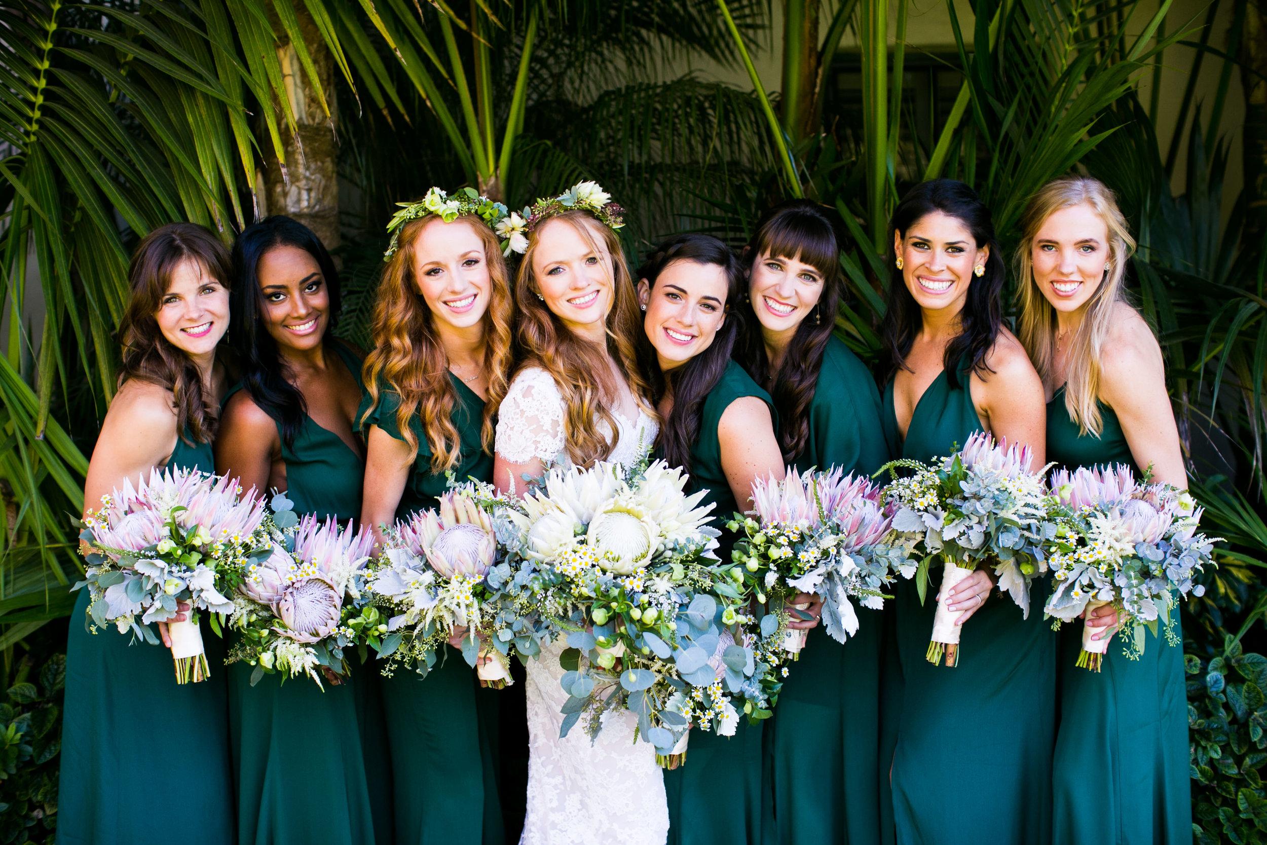 www.santabarbarawedding.com   Four Seasons Santa Barbara   Levine Fox Events   Callaway Gable Photo   Bridesmaids