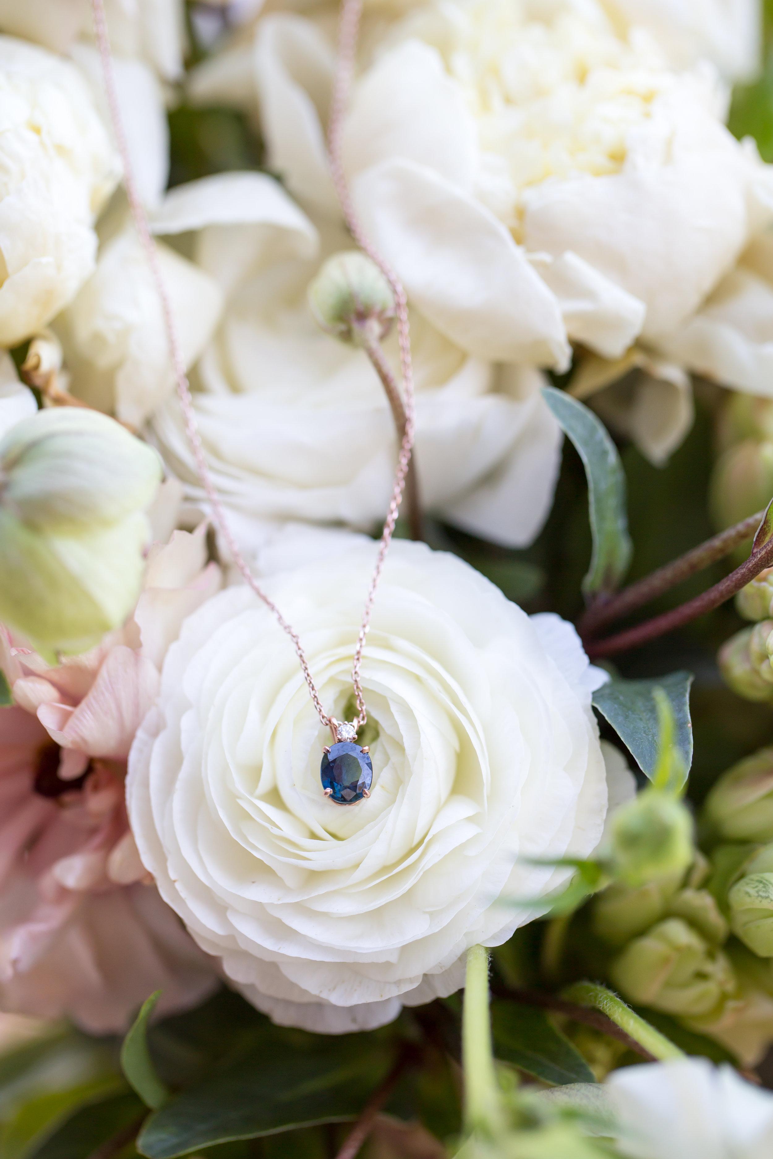 www.santabarbarawedding.com | Elizabeth Victoria Photo | Garden Street Academy | Bride's Necklace | Something Blue