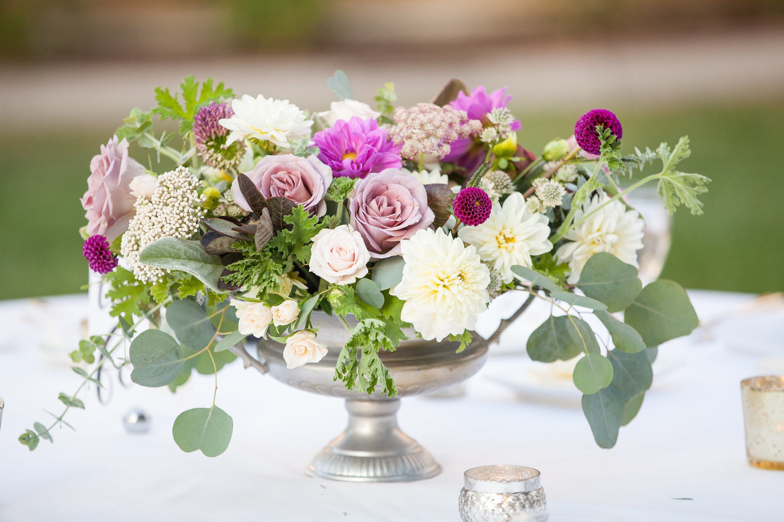 www.SantaBarbaraWedding.com | Margaret Joan Floral | The Santa Barbara Club | Purple Floral | wedding flowers ultraviolet