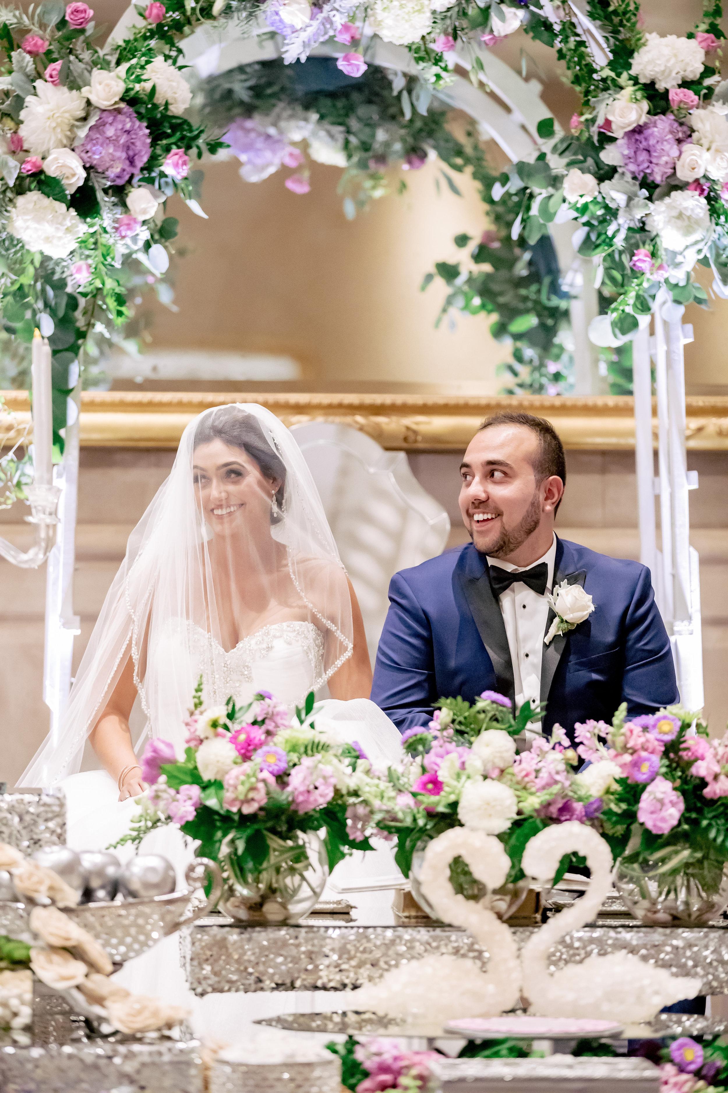 www.santabarbarawedding.com | Bacara Resort | Rewind Photography | Elegant Sofreh Design | Ceremony | Bride and Groom