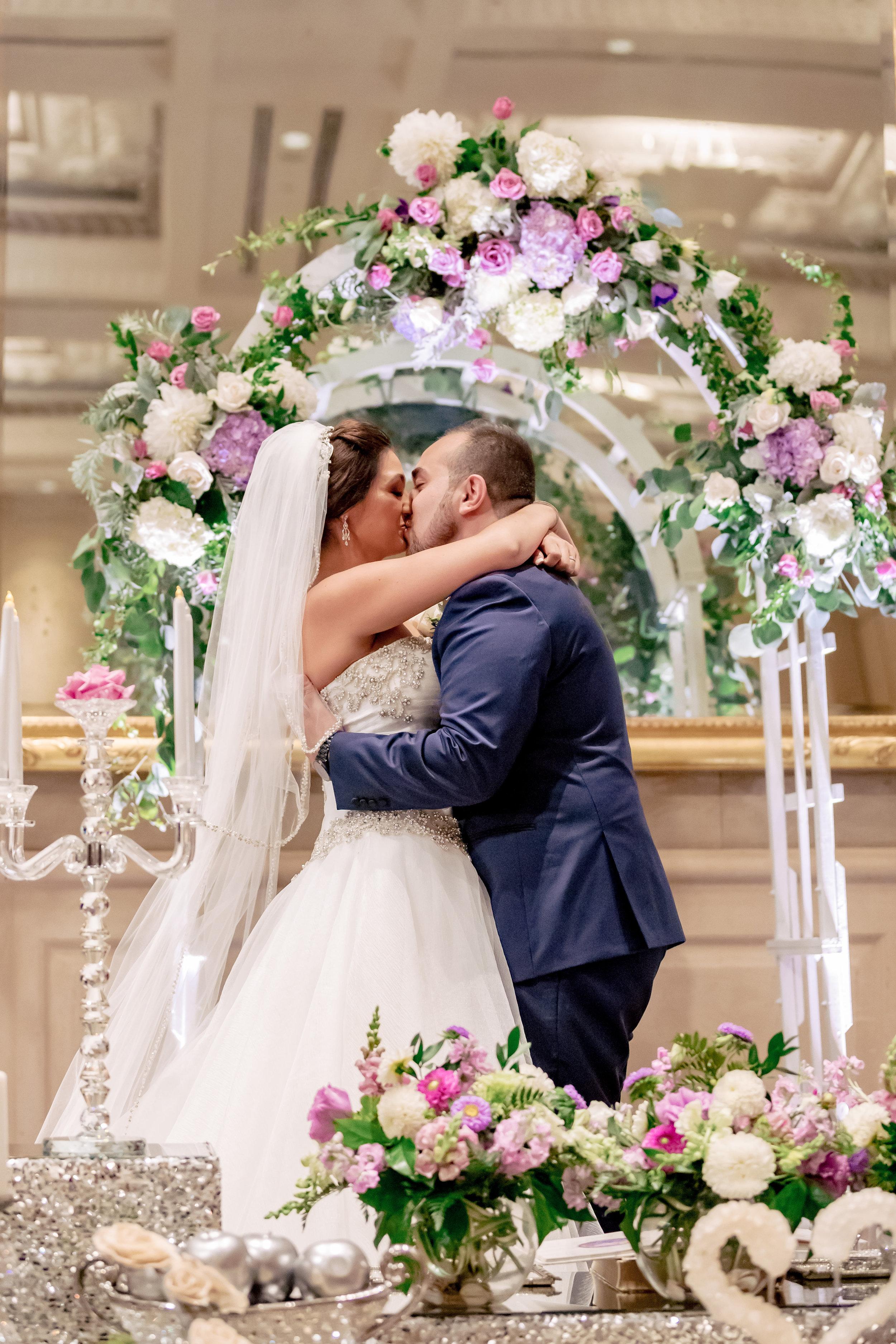 www.santabarbarawedding.com | Bacara Resort | Rewind Photography | Elegant Sofreh Design | Bride and Groom | Ceremony