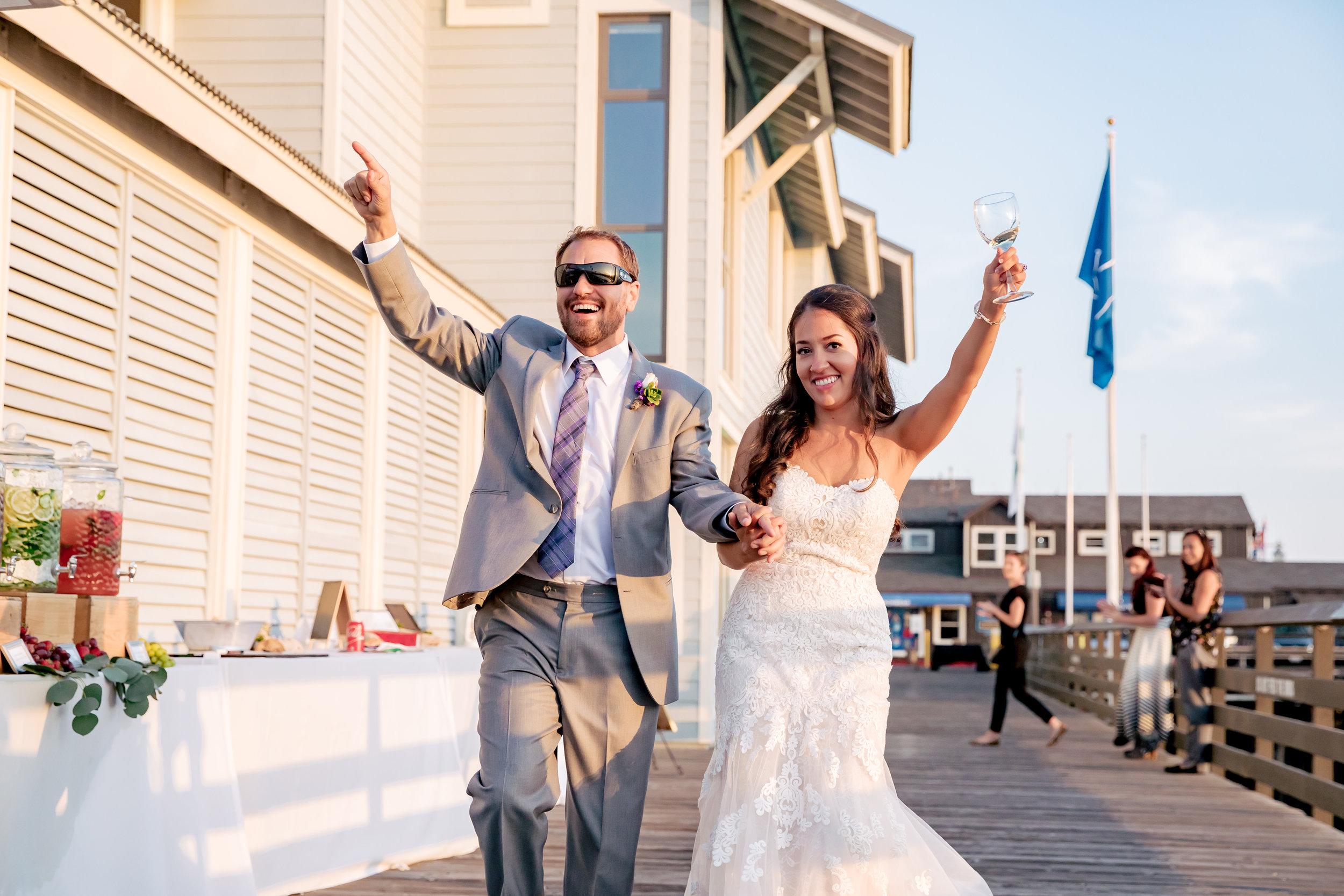 www.santabarbarawedding.com | Rewind Photography | Santa Barbara Sea Center | Bride and Groom