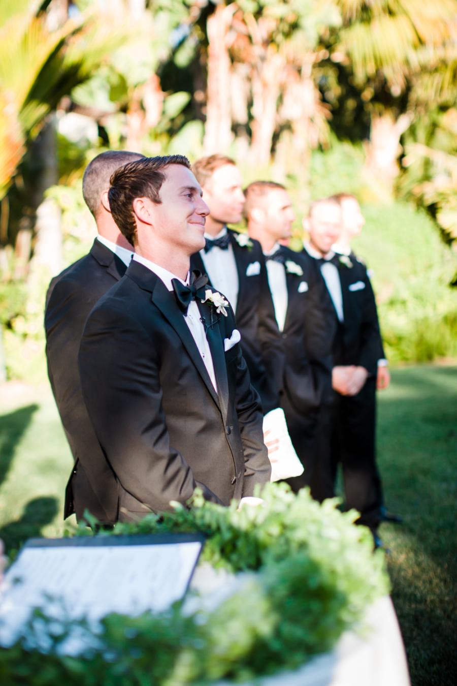 www.santabarbarawedding.com | Ann Johnson Events | Jessica Lewis | The Biltmore | Groom at Ceremony