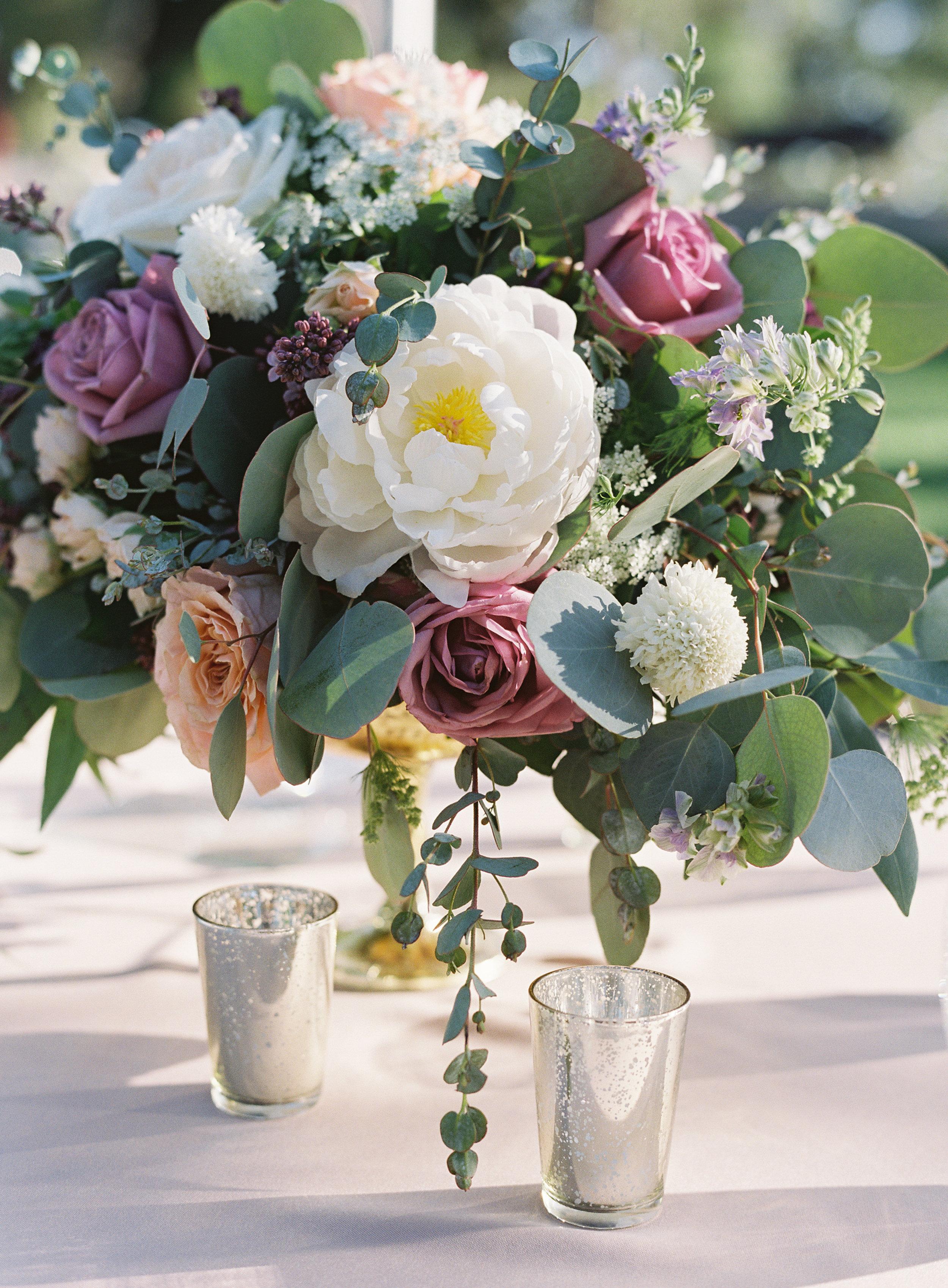 www.santabarbarawedding.com   Trinity Episcopal Church   Elings Park   Sarah Weir   Burlap & Bordeaux   Floral Arrangement
