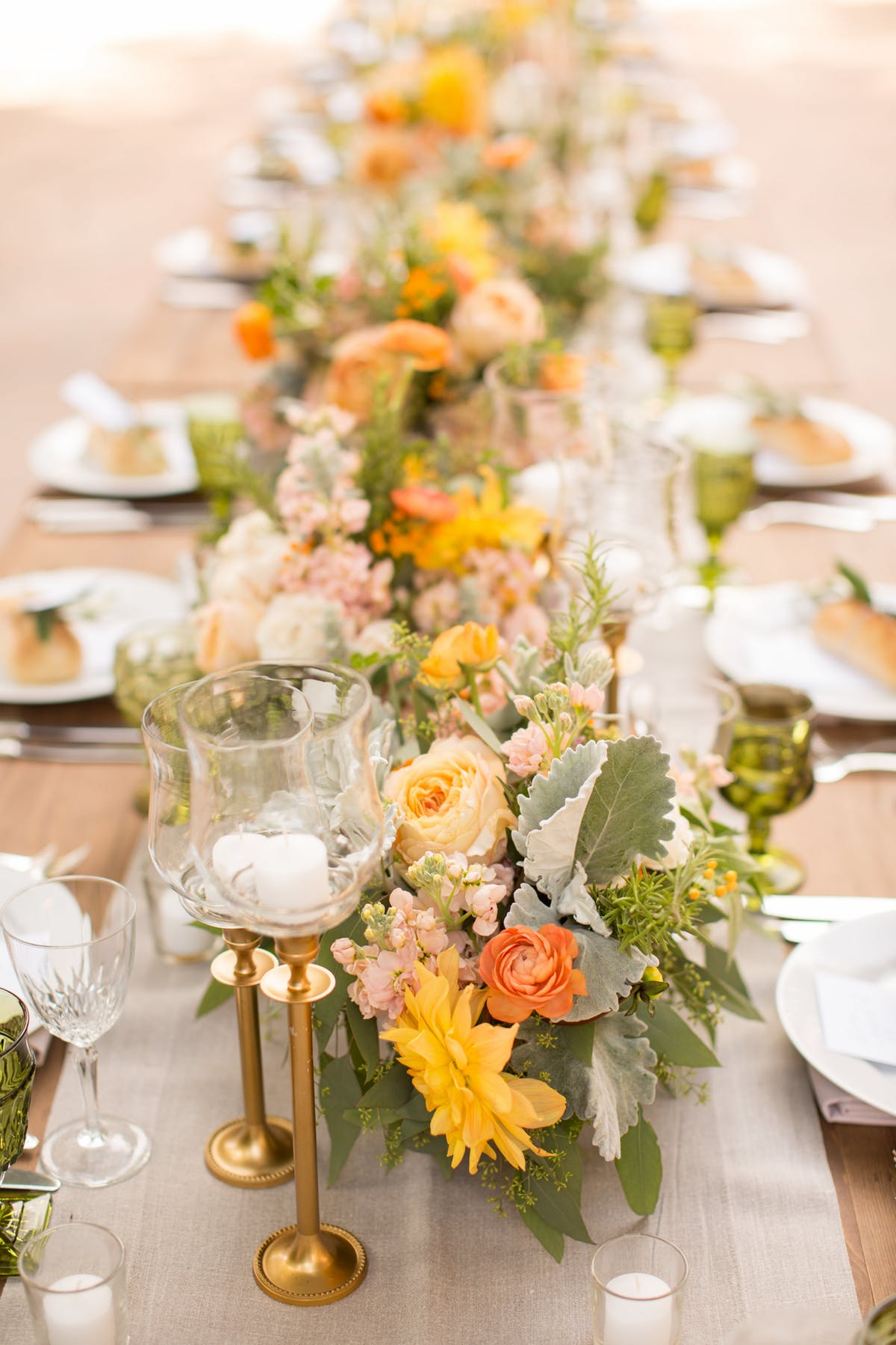 www.santabarbarawedding.com | Anna J Photography | Alegria by Design | Firestone Vineyard | Reception Table Details