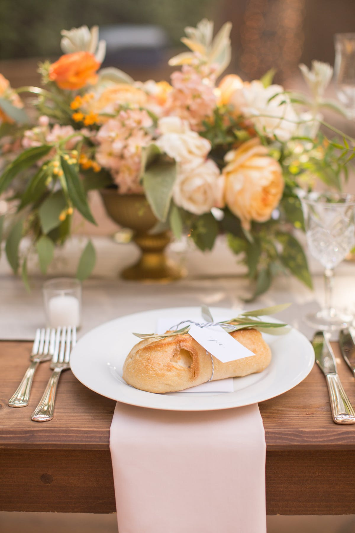 www.santabarbarawedding.com | Anna J Photography | Alegria by Design | Firestone Vineyard | Place Setting