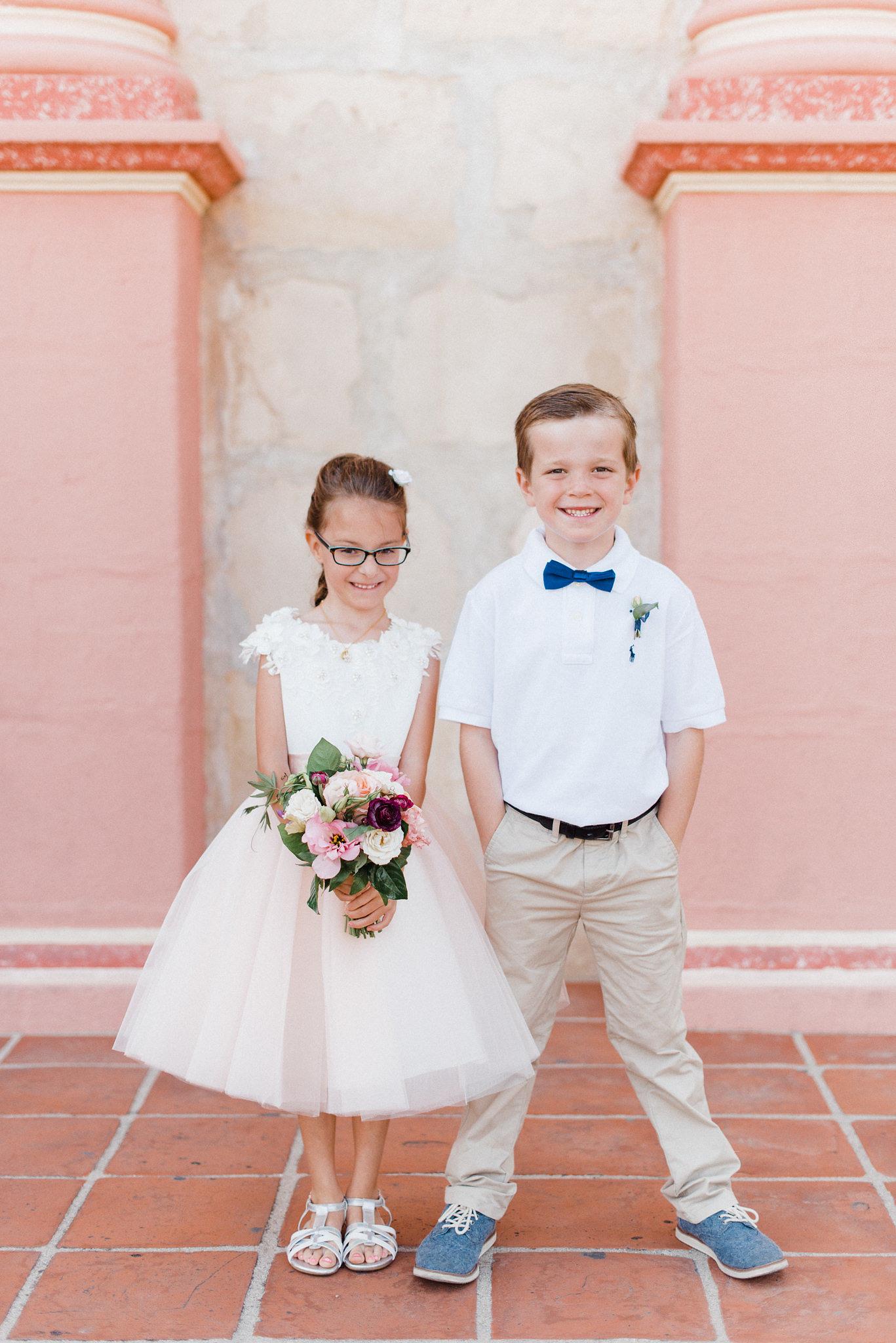 www.santabarbarawedding.com | Canary Hotel | Grace Kathryn Photography | Flower Girl and Ring Bearer