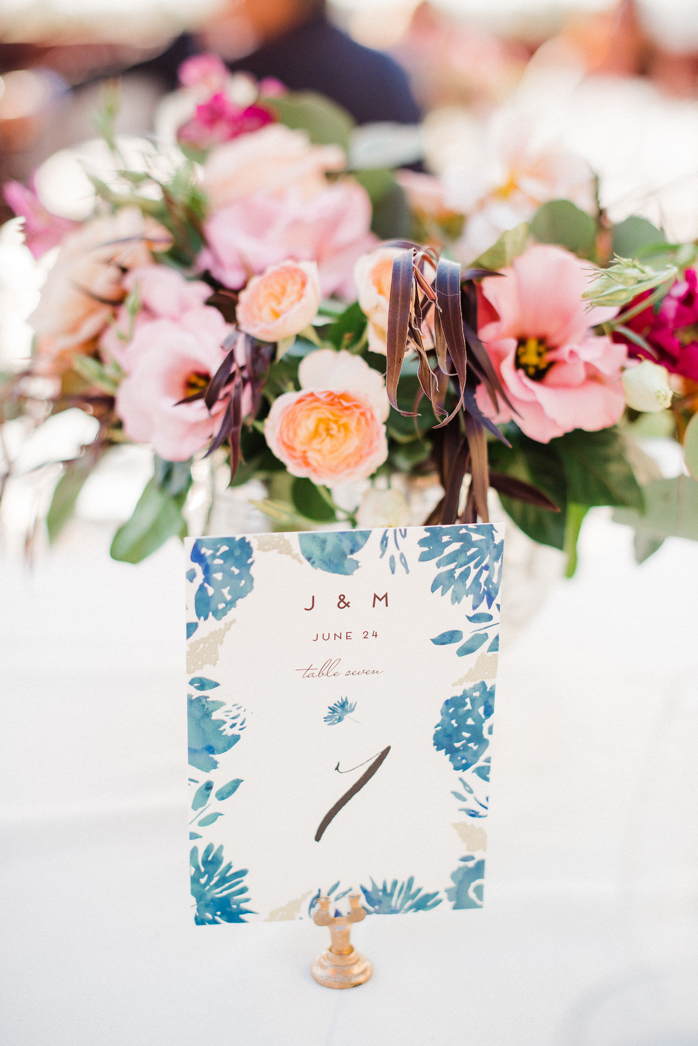 www.santabarbarawedding.com | Canary Hotel | Grace Kathryn Photography | Wedding Table Numbers