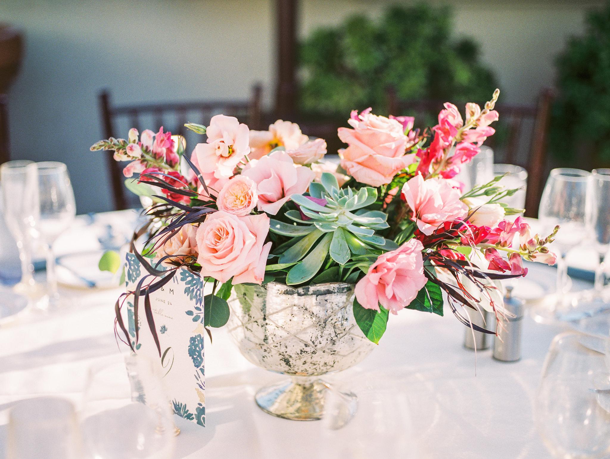 www.santabarbarawedding.com | Canary Hotel | Grace Kathryn Photography | Floral Arrangement