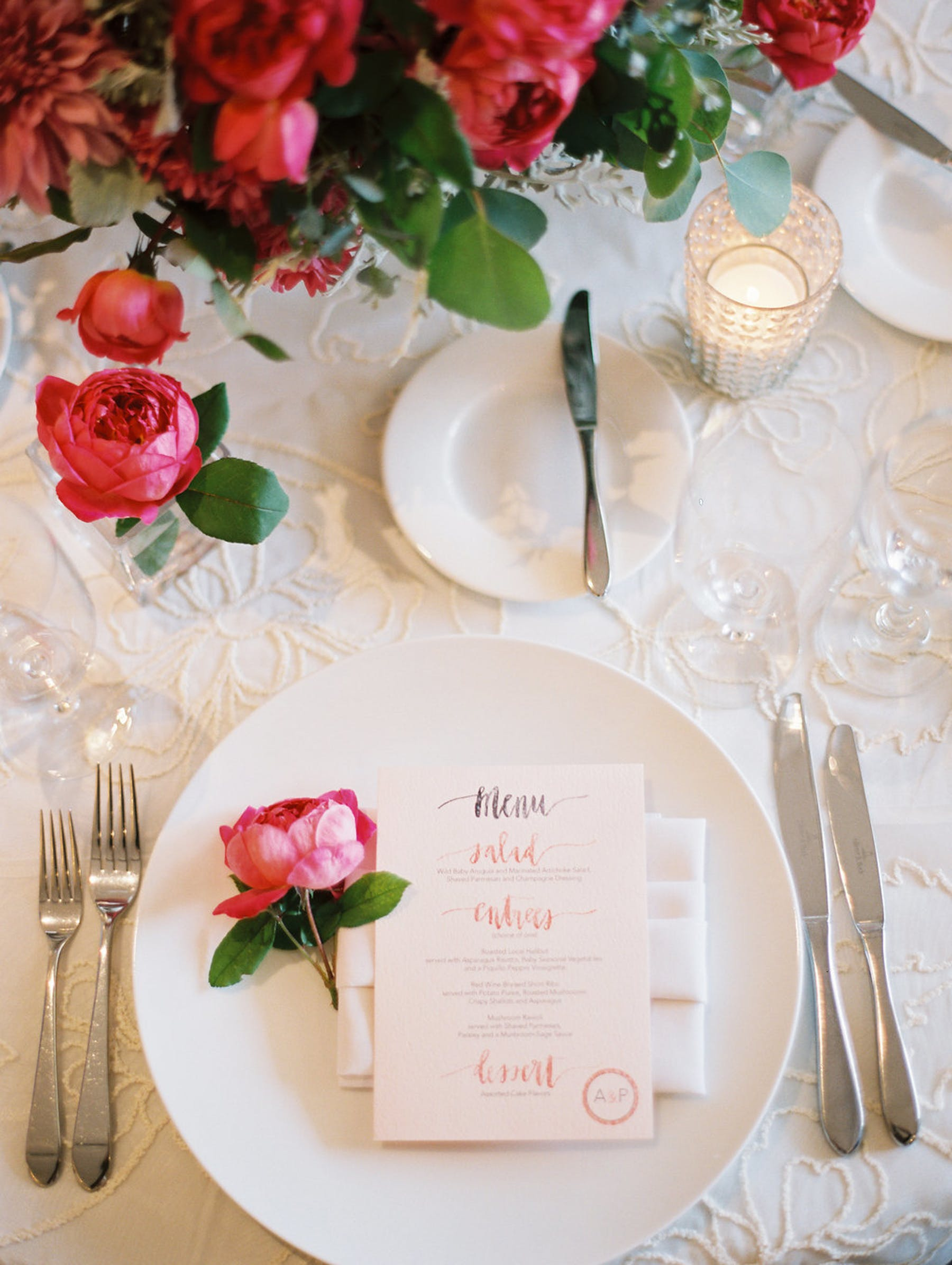 www.santabarbarawedding.com | El Encanto | Coco Rose Design | This Modern Romance | Reception Place Setting