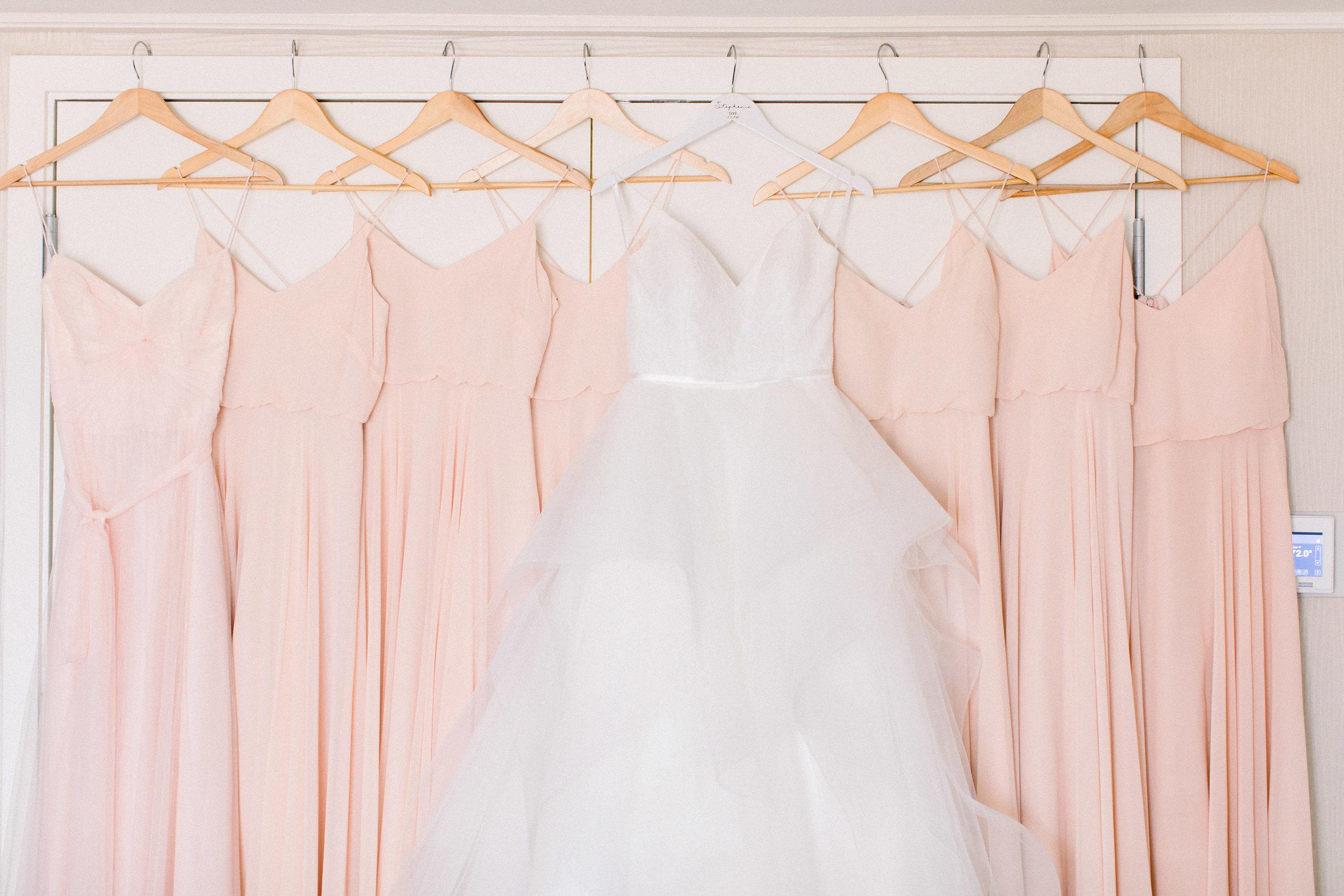 www.santabarbarawedding.com | Jenny Quicksall | Santa Barbara Club | Bluebell Events | Bridesmaid Dresses and Wedding Gown