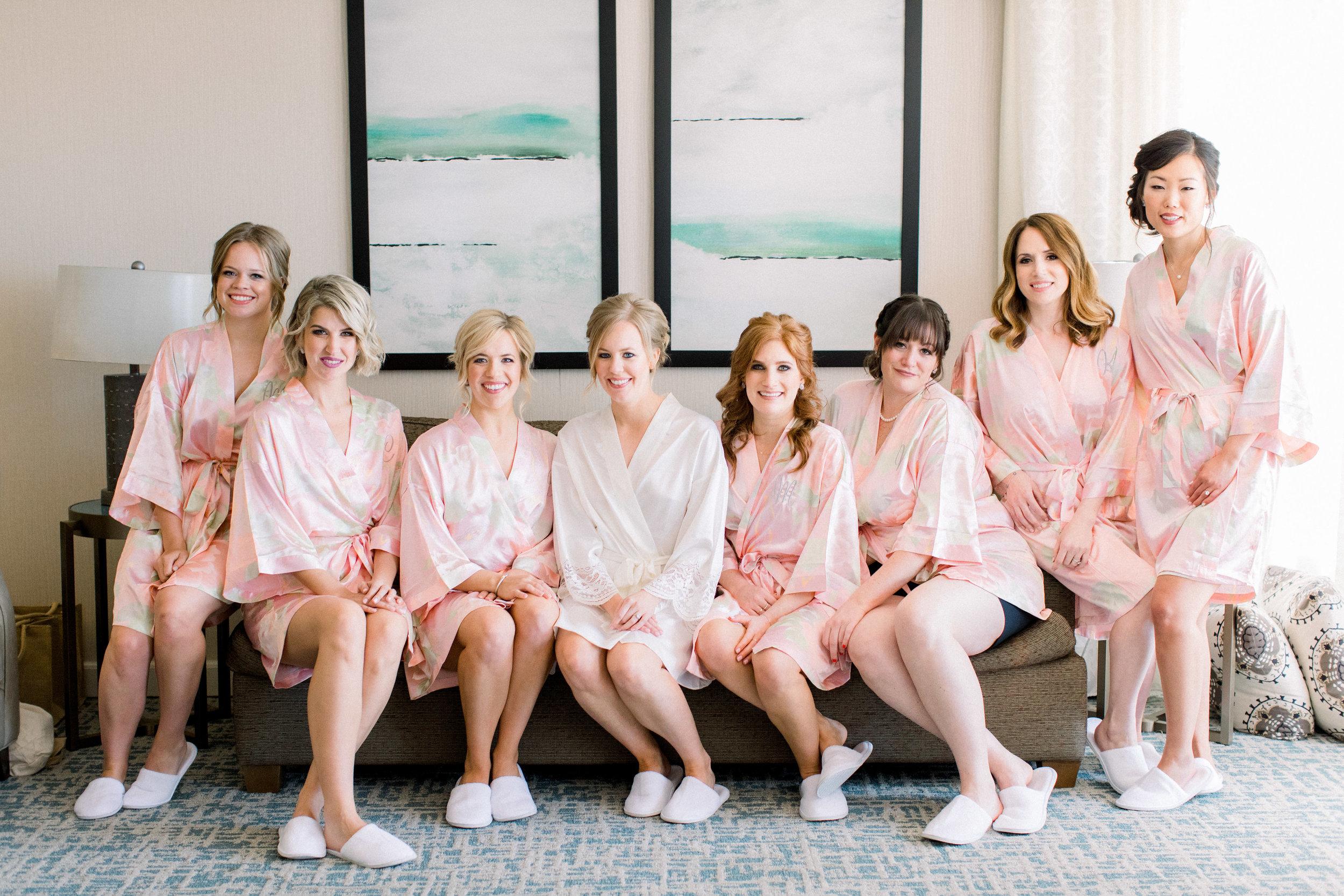 www.santabarbarawedding.com | Jenny Quicksall | Santa Barbara Club | Bluebell Events | Bridesmaids Getting Ready