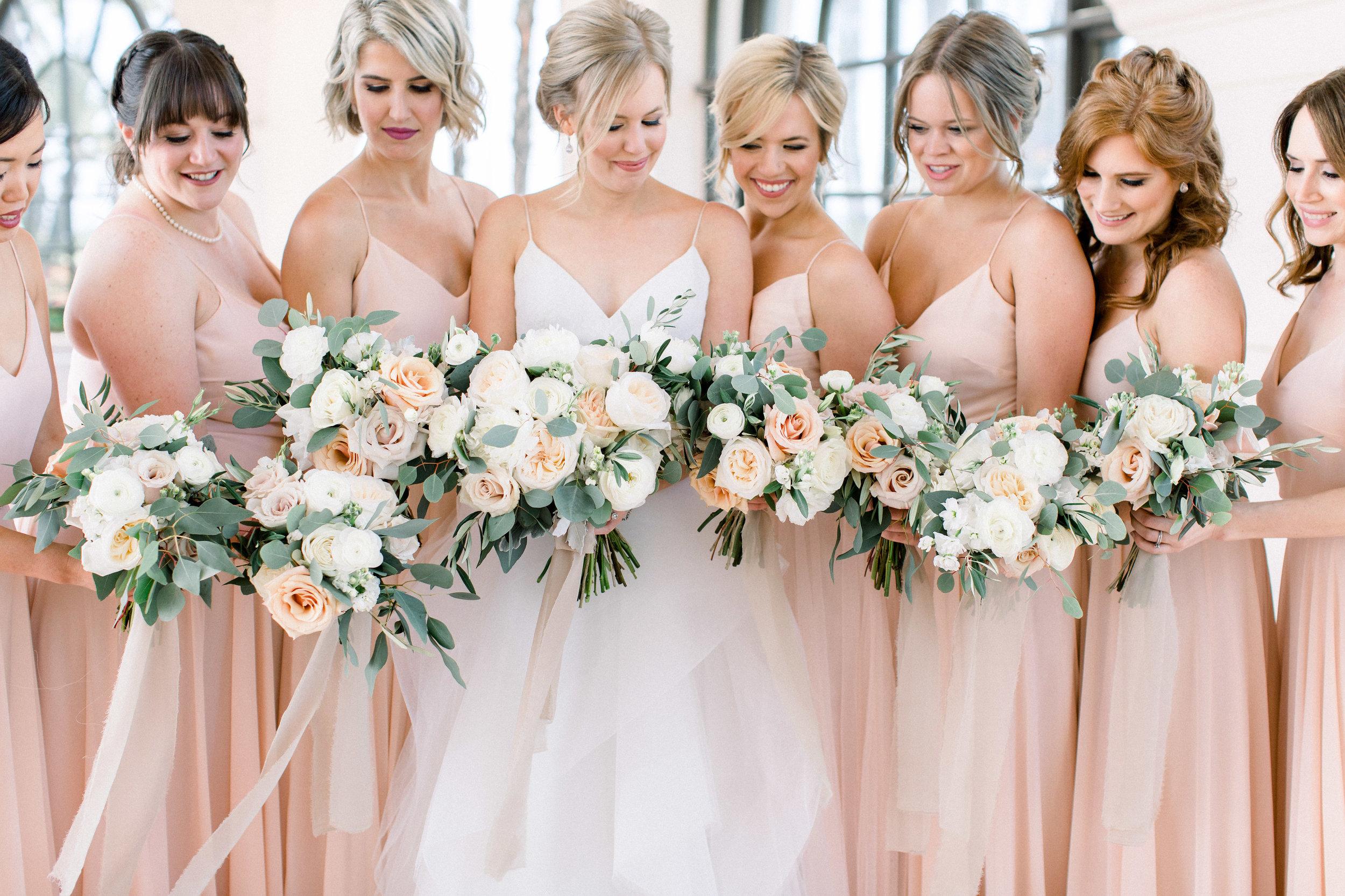 www.santabarbarawedding.com | Jenny Quicksall | Santa Barbara Club | Bluebell Events | Bride and Bridesmaids