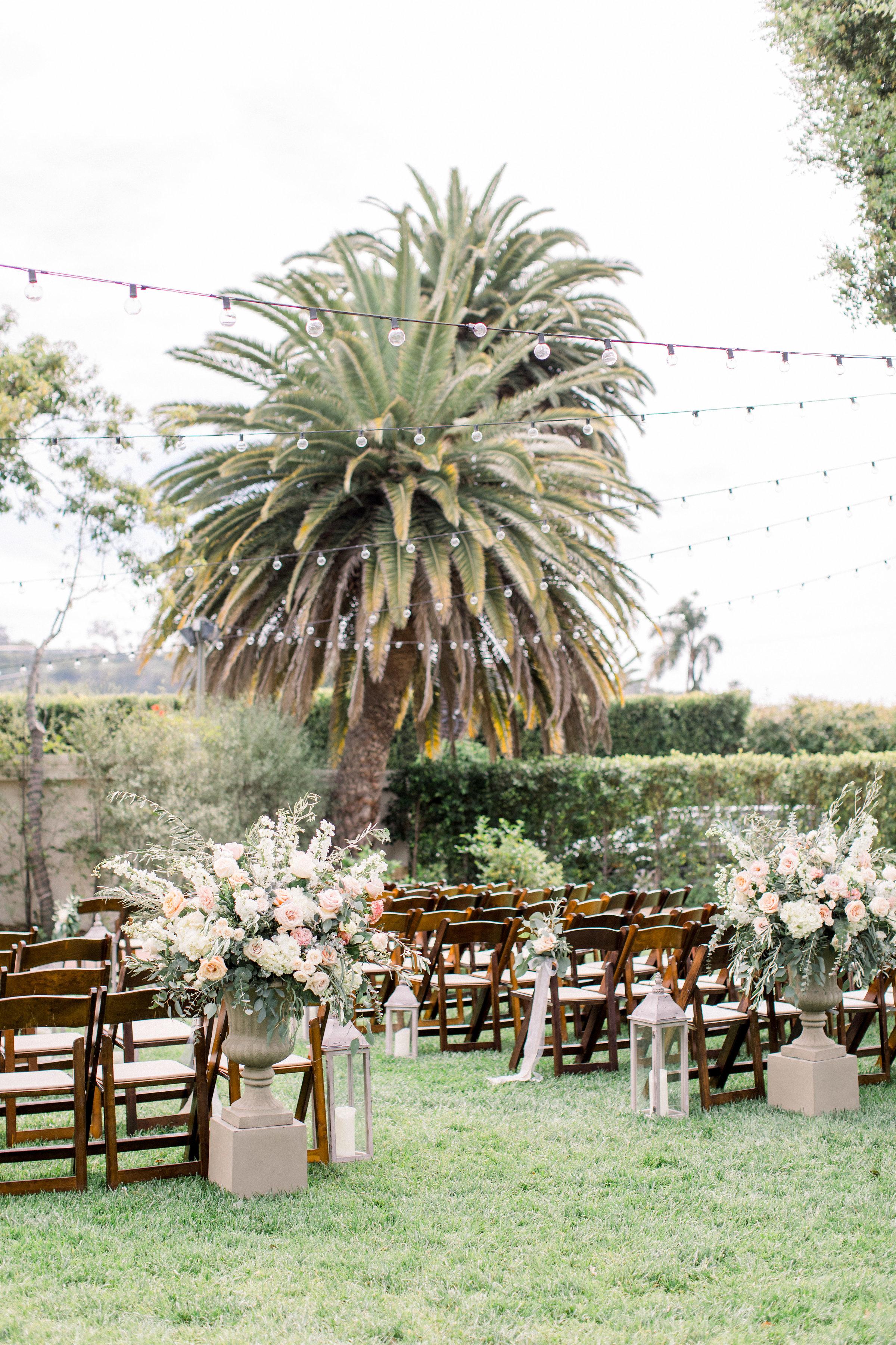 www.santabarbarawedding.com | Jenny Quicksall | Santa Barbara Club | Bluebell Events | Ceremony