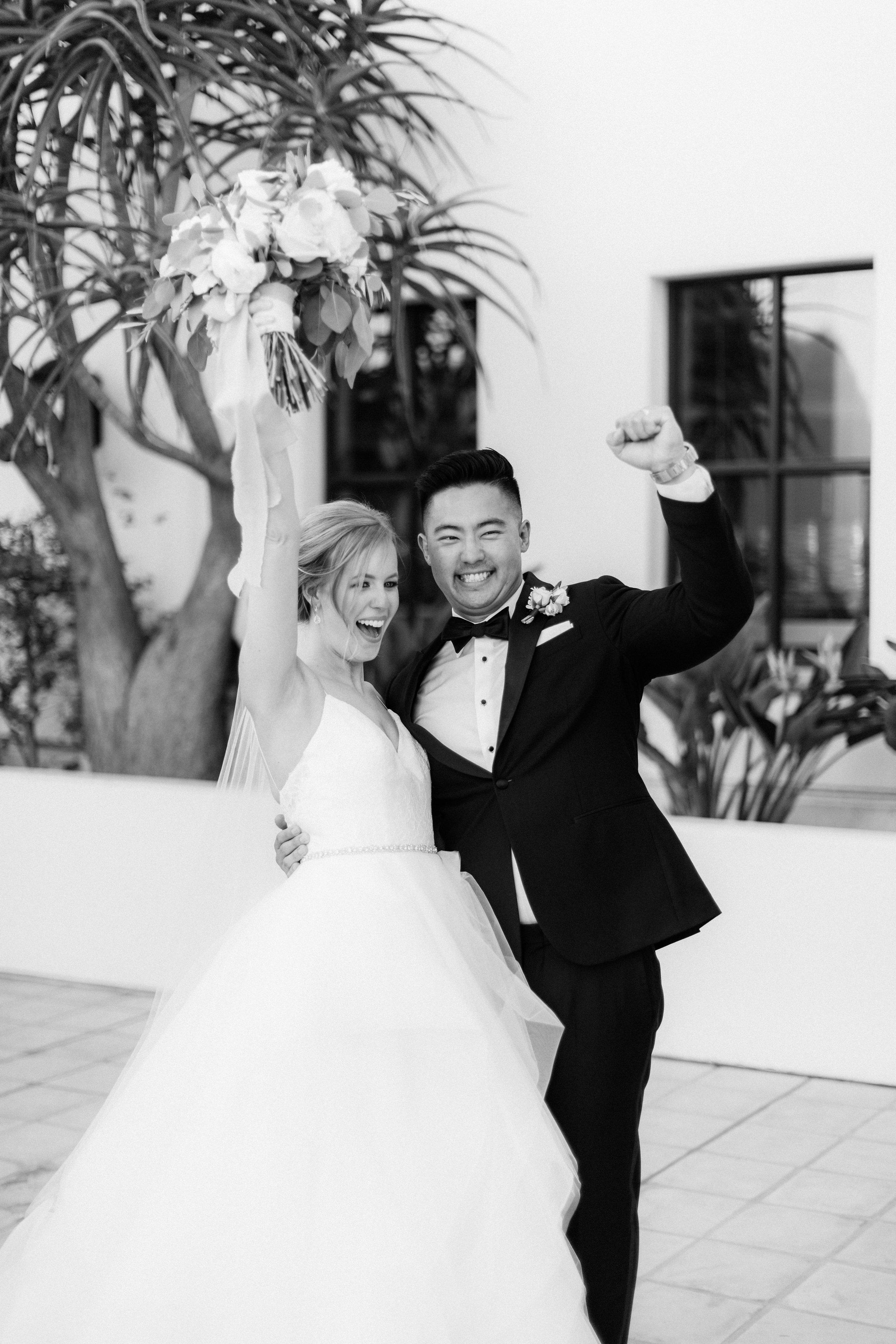 www.santabarbarawedding.com | Jenny Quicksall | Santa Barbara Club | Bluebell Events | Bride and Groom